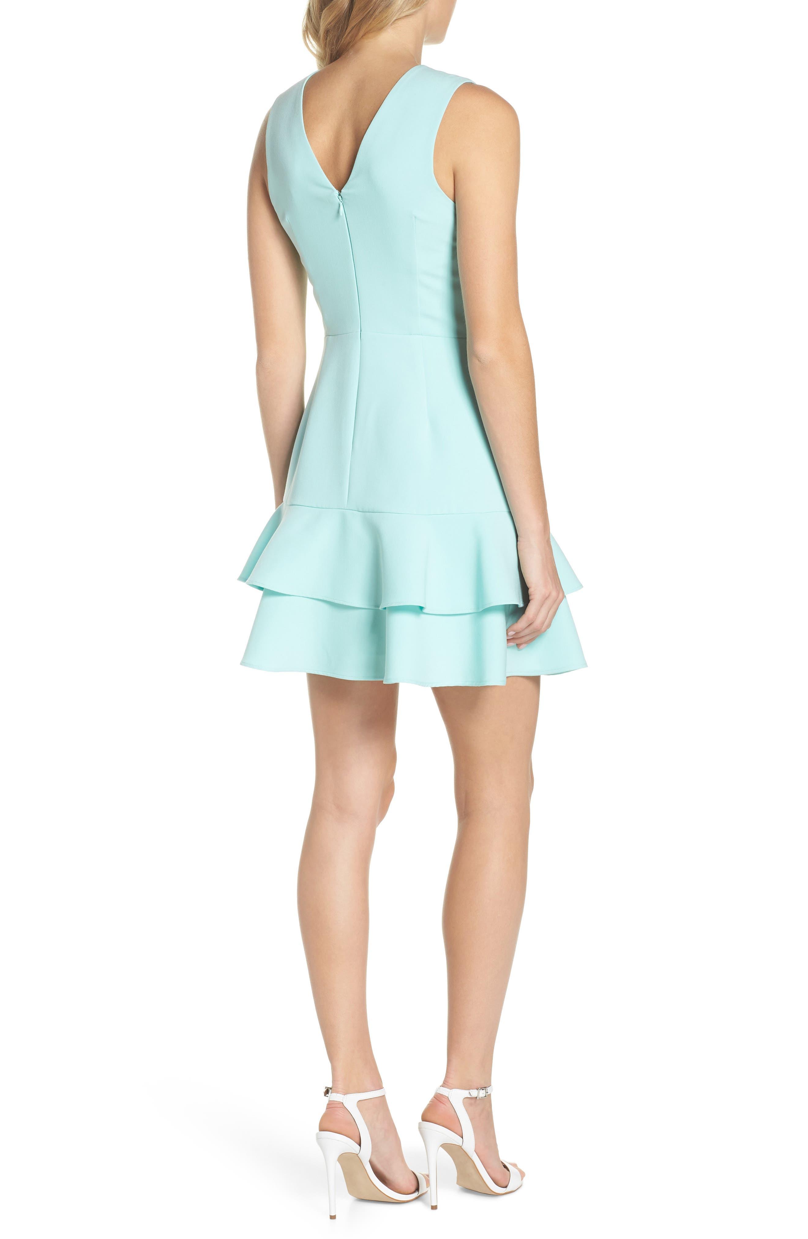 Lavinia Fit & Flare Dress,                             Alternate thumbnail 2, color,                             Mint