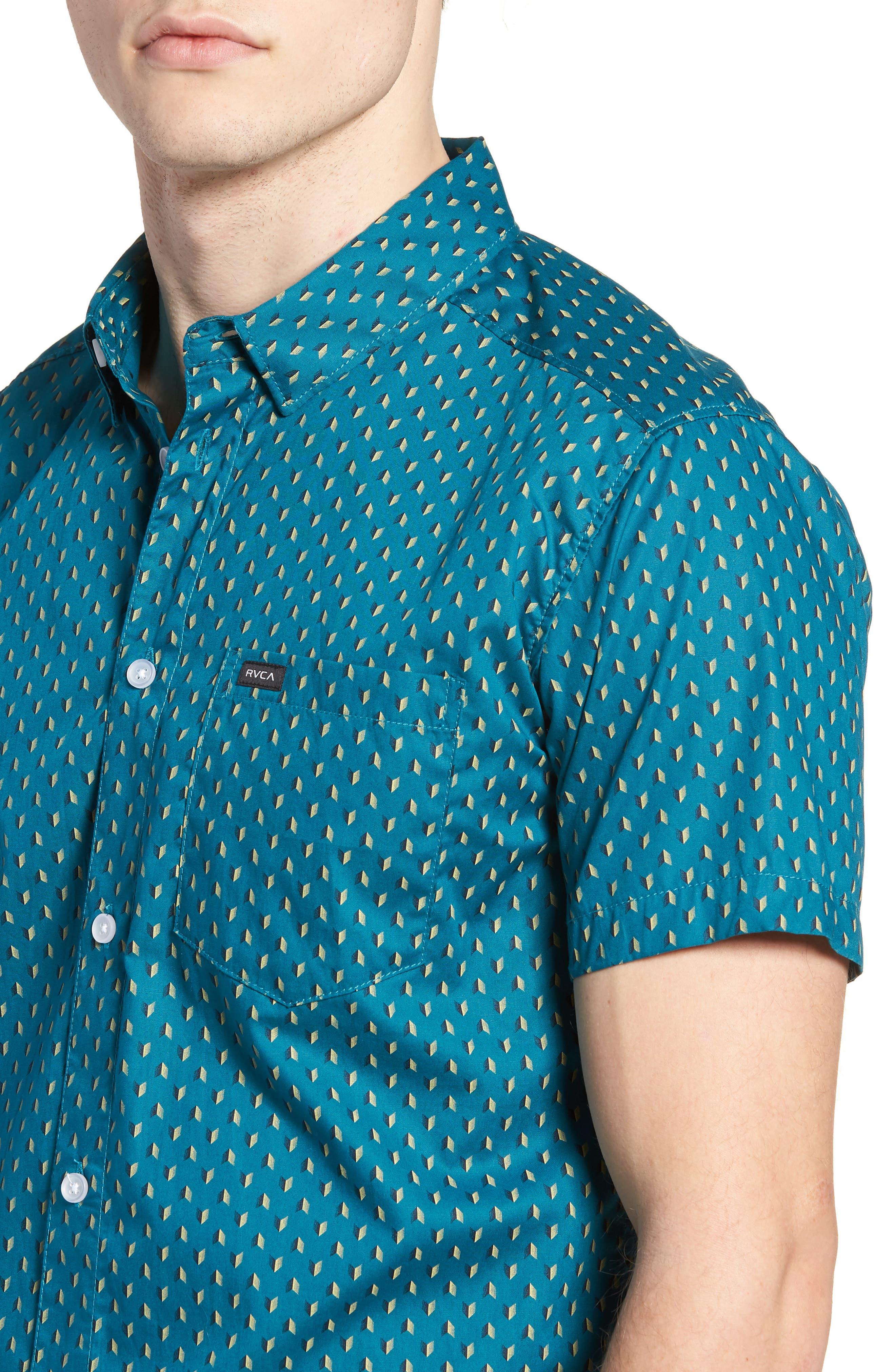 Arrowed Woven Shirt,                             Alternate thumbnail 2, color,                             Blue Tide