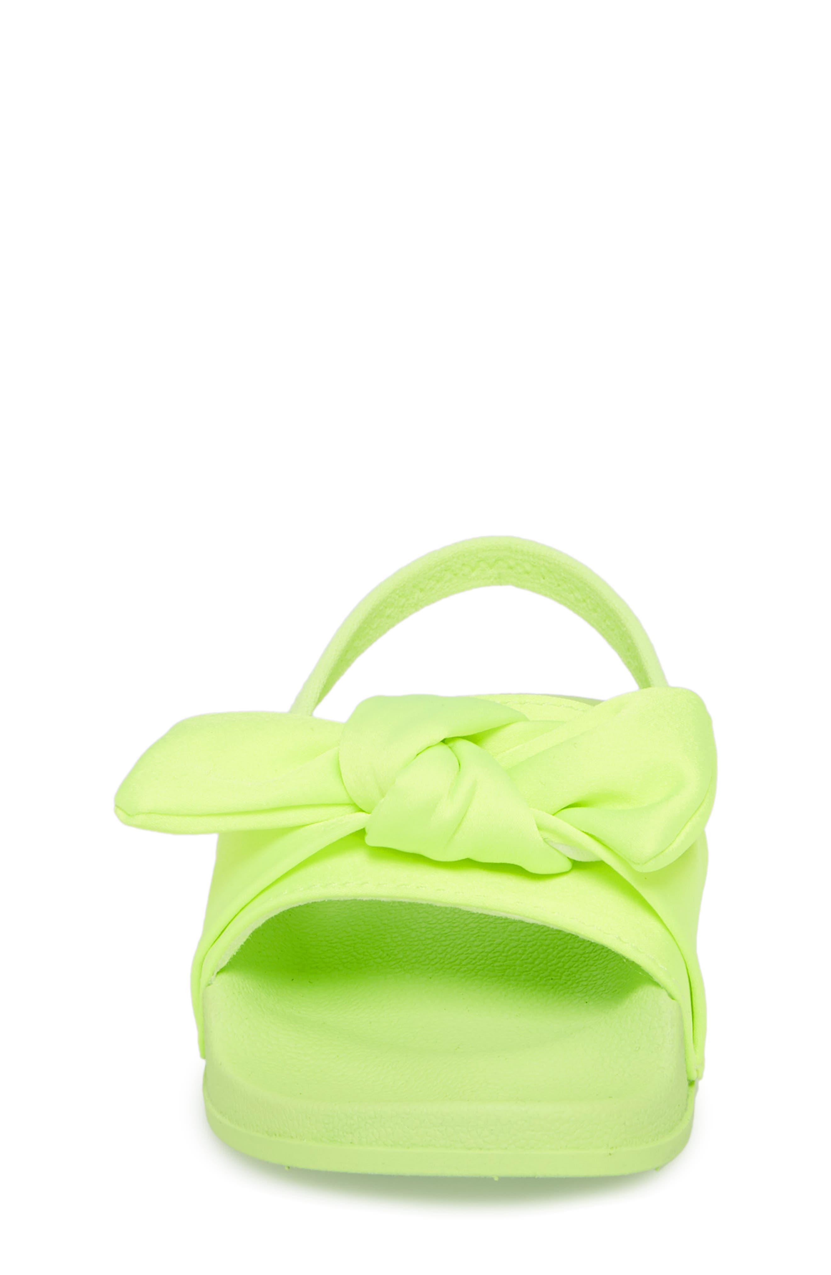 Tsilky Knotted Slide Sandal,                             Alternate thumbnail 4, color,                             Citron