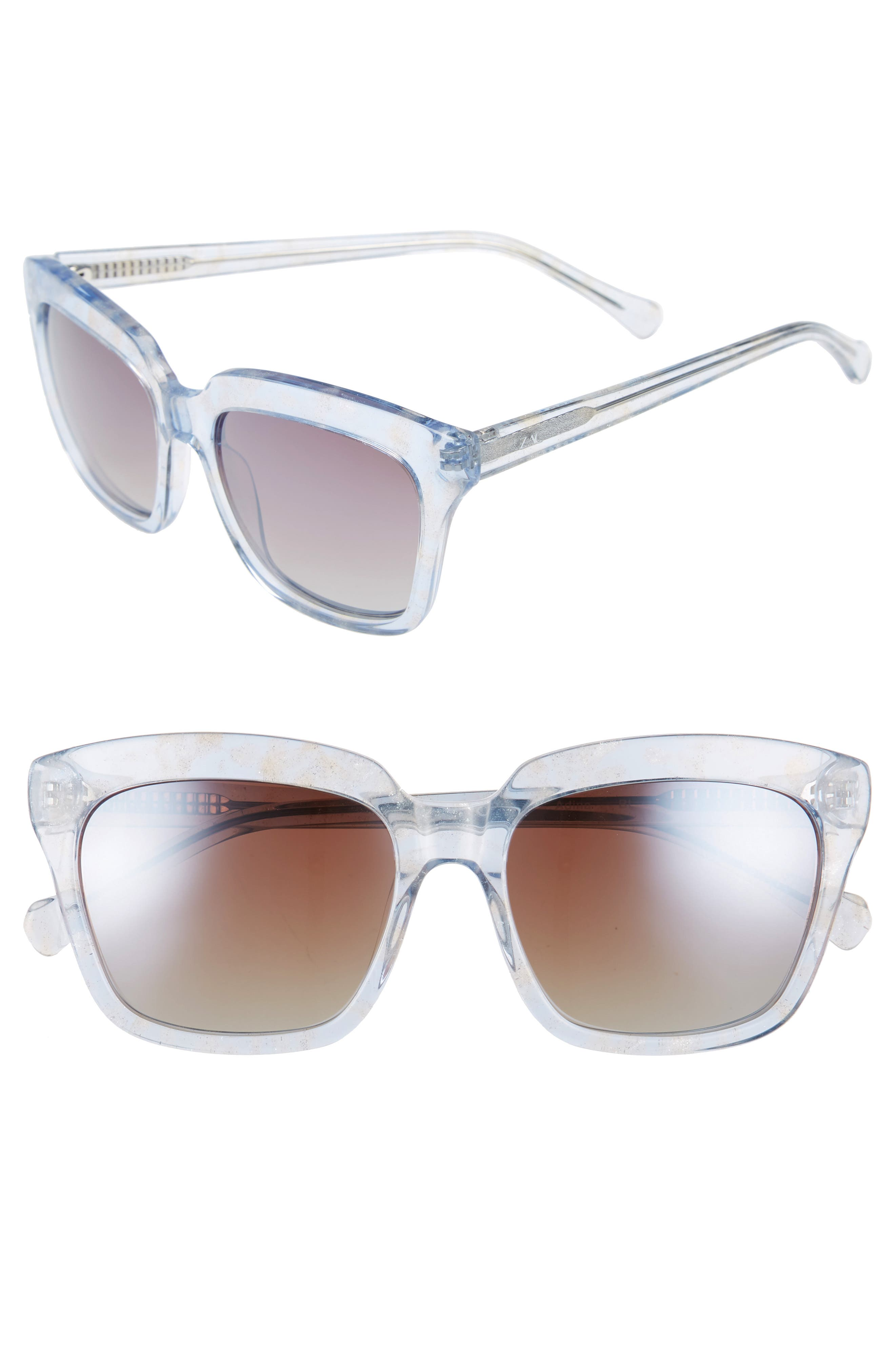 Adina 56mm Polarized Sunglasses,                             Main thumbnail 1, color,                             Blue Polar/ Greige