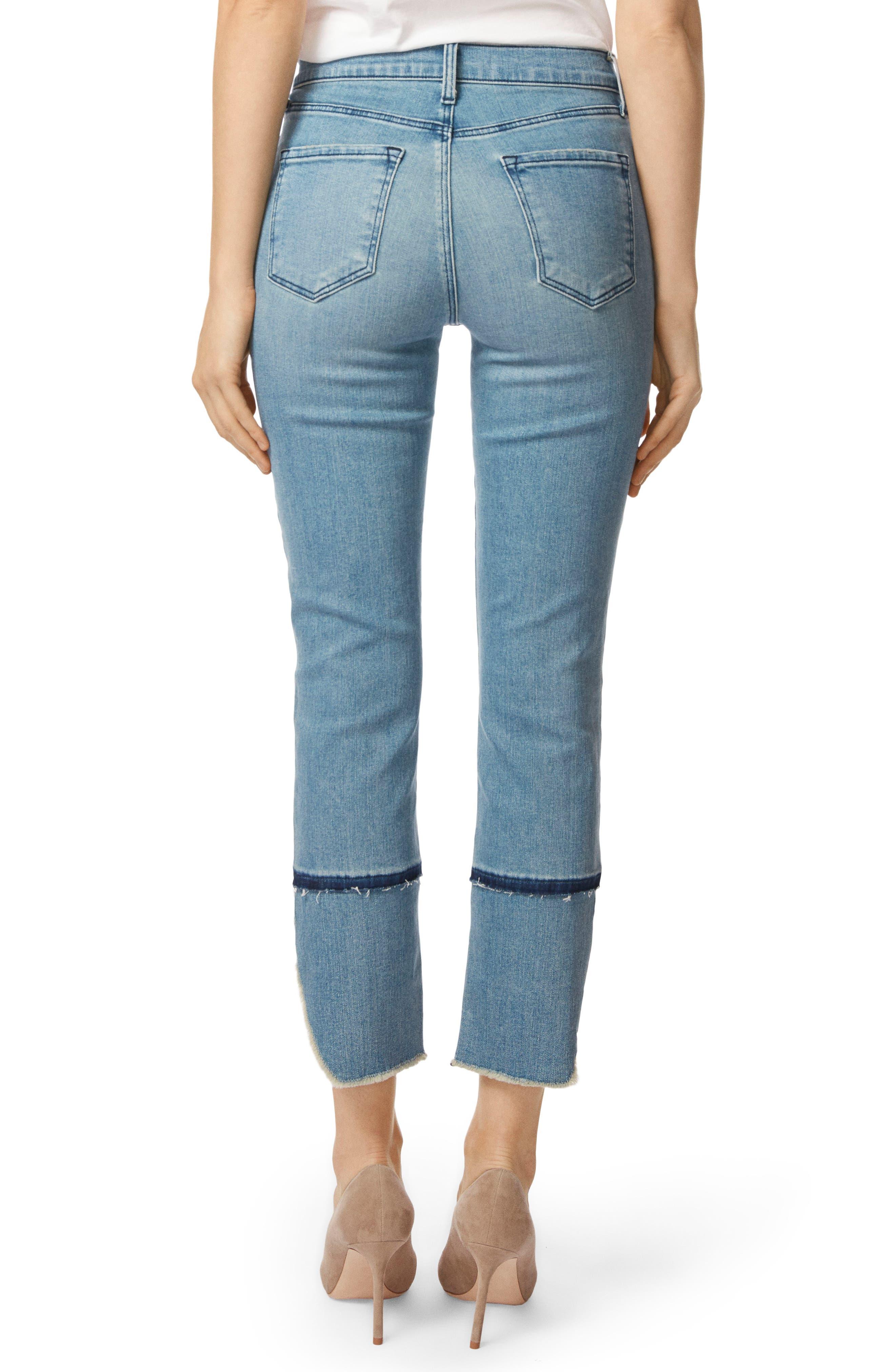 Ruby High Waist Crop Cigarette Jeans,                             Alternate thumbnail 2, color,                             Patriot