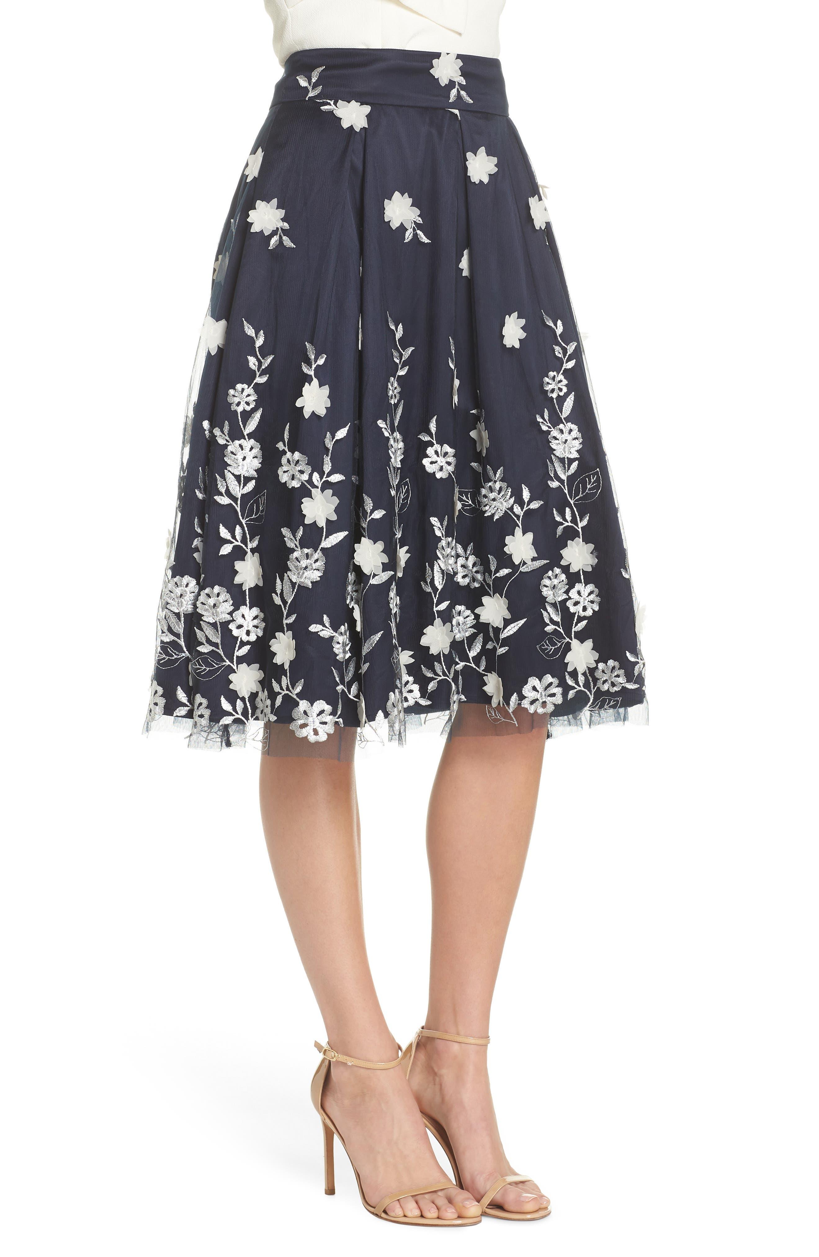 Alternate Image 6  - Eliza J Embroidered A-Line Skirt