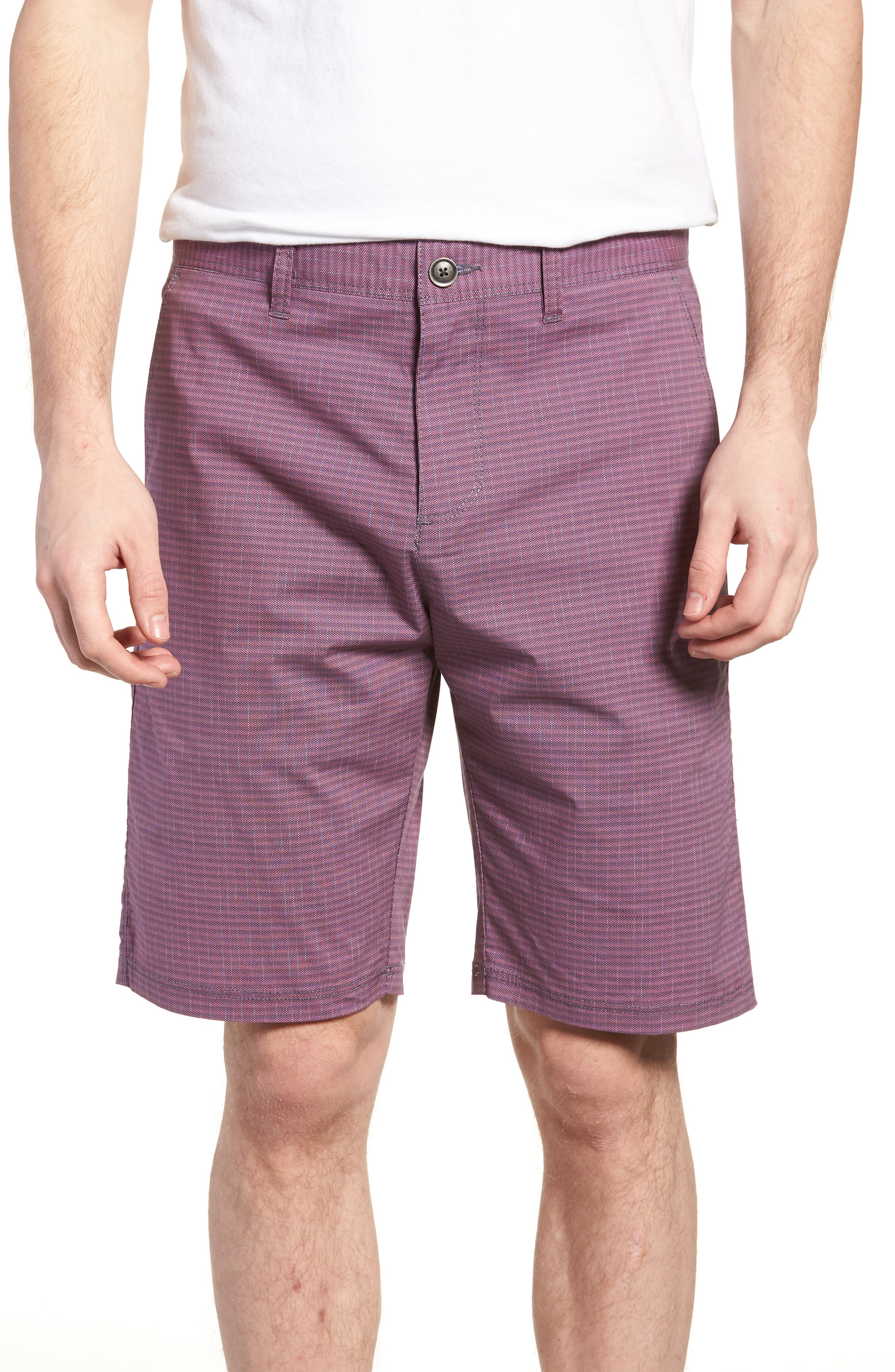 Textured Stretch Shorts,                             Main thumbnail 1, color,                             Pink