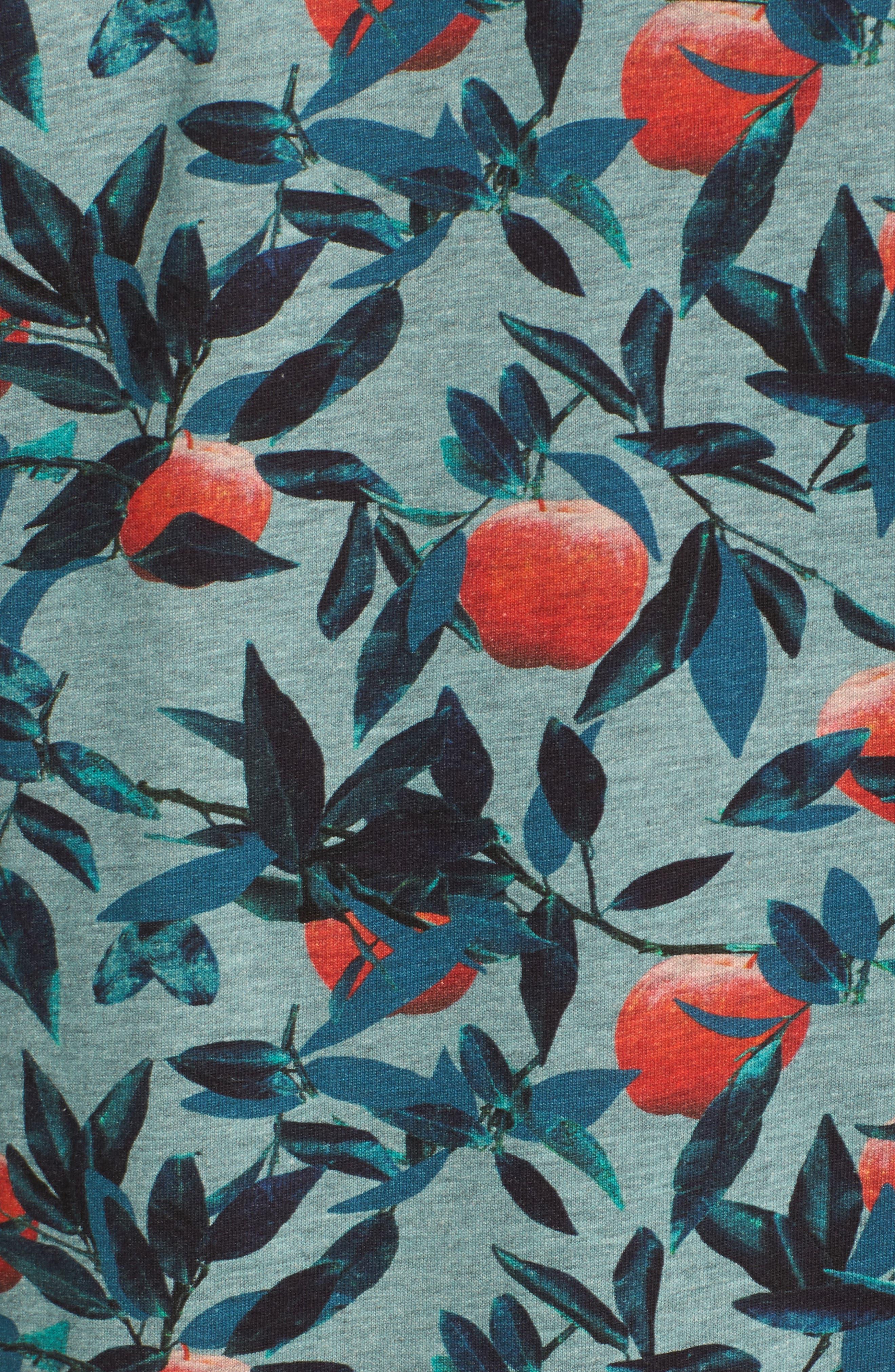 Fithe Apple Print T-Shirt,                             Alternate thumbnail 5, color,                             Light Blue