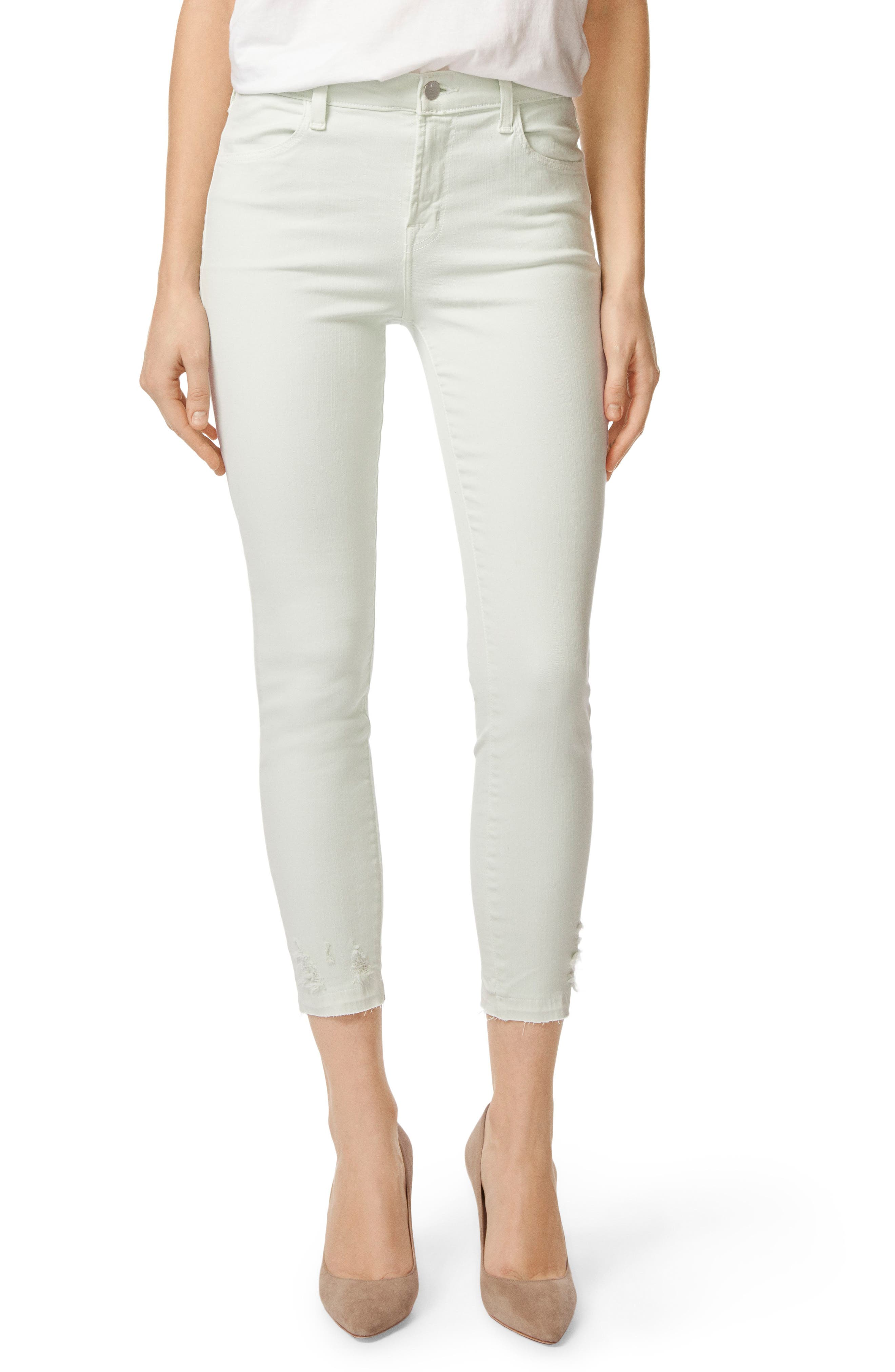 'Alana' High Rise Crop Skinny Jeans,                         Main,                         color, Spearmint Destruct