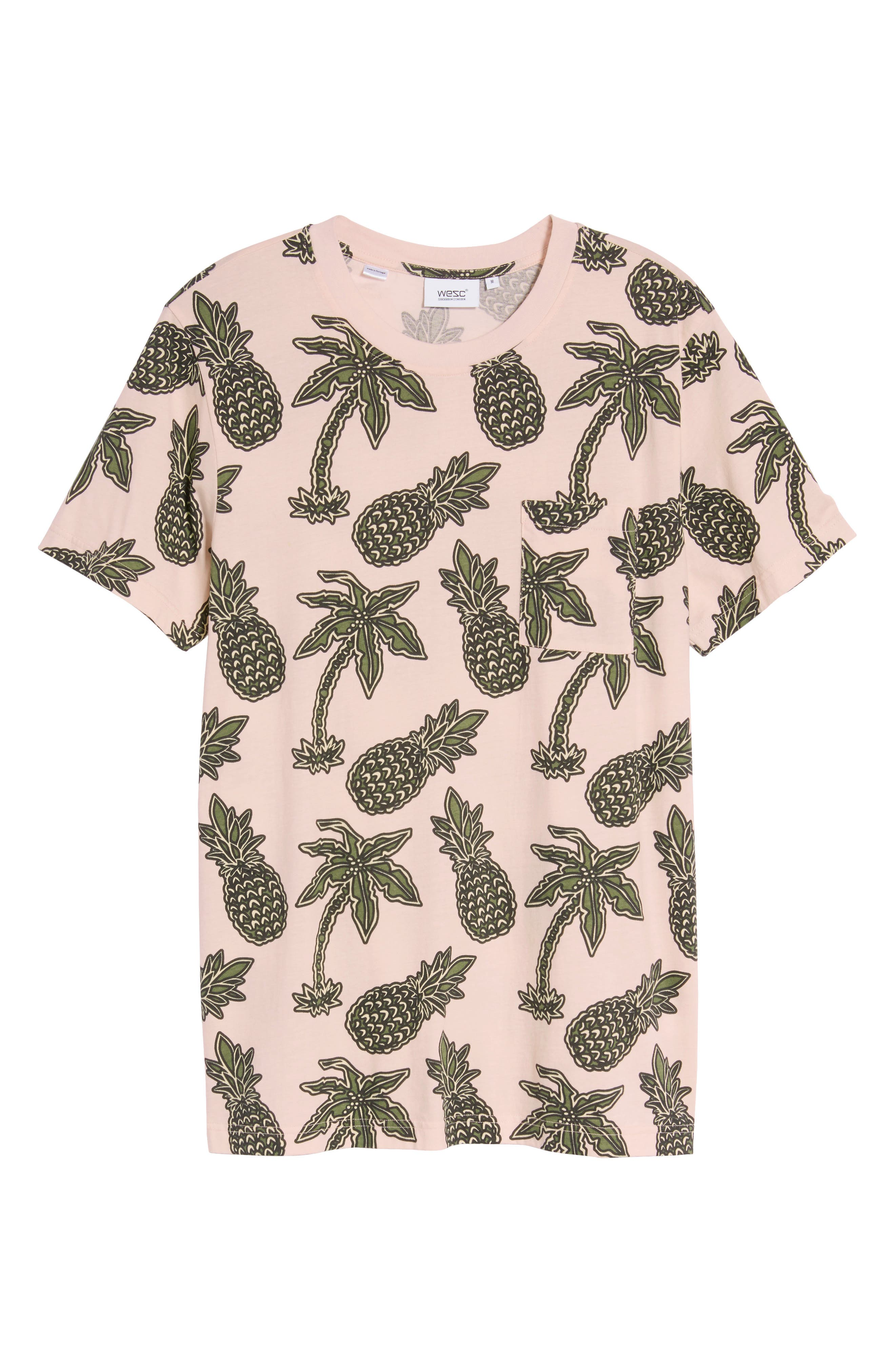 Maxwell Pineapple Print T-Shirt,                             Alternate thumbnail 6, color,                             Pineapple Pink