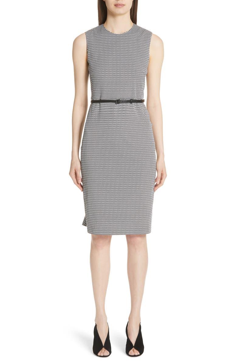 Destino Checkered Jacquard Sheath Dress