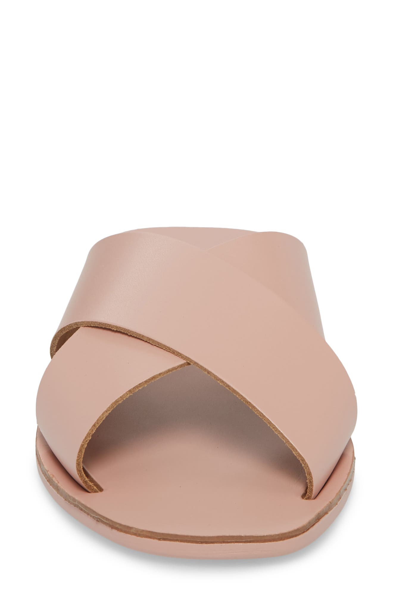 Total Relaxation Slide Sandal,                             Alternate thumbnail 4, color,                             Pink Leather