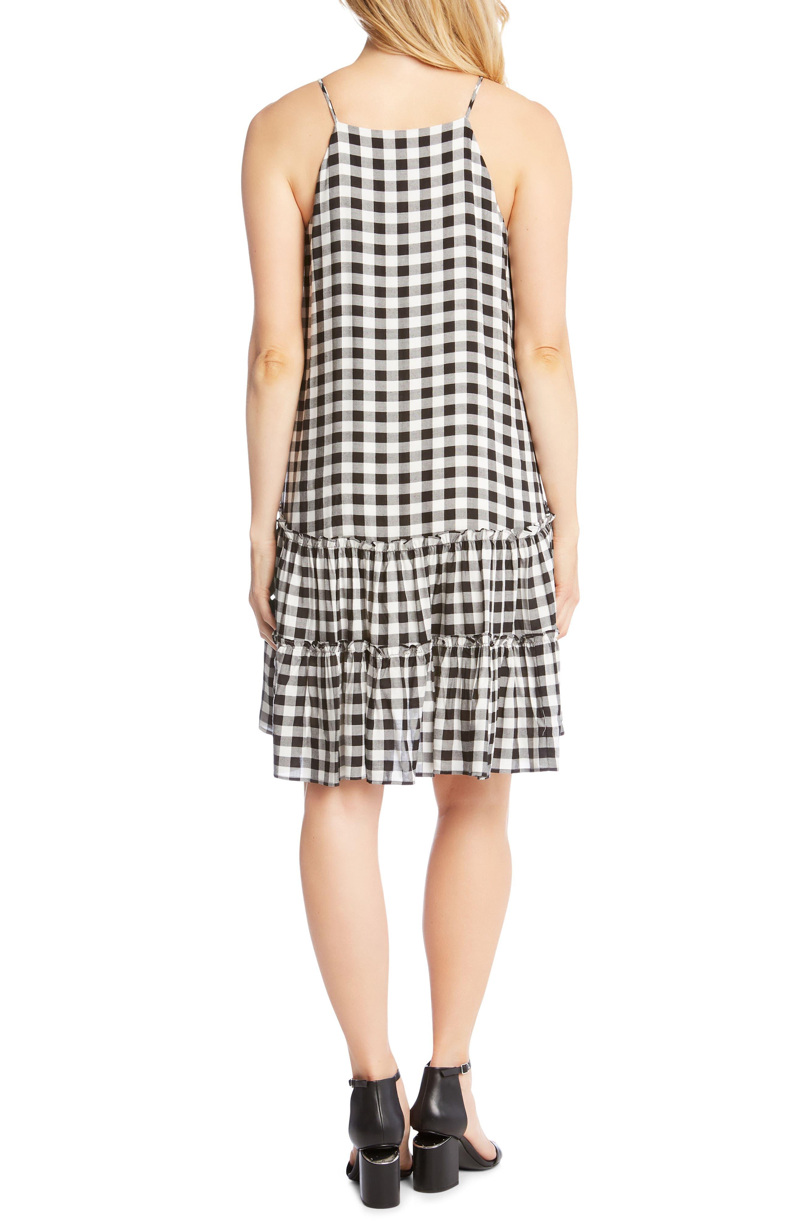 Gingham Ruffle Hem Halter Top Dress,                             Alternate thumbnail 2, color,                             Check