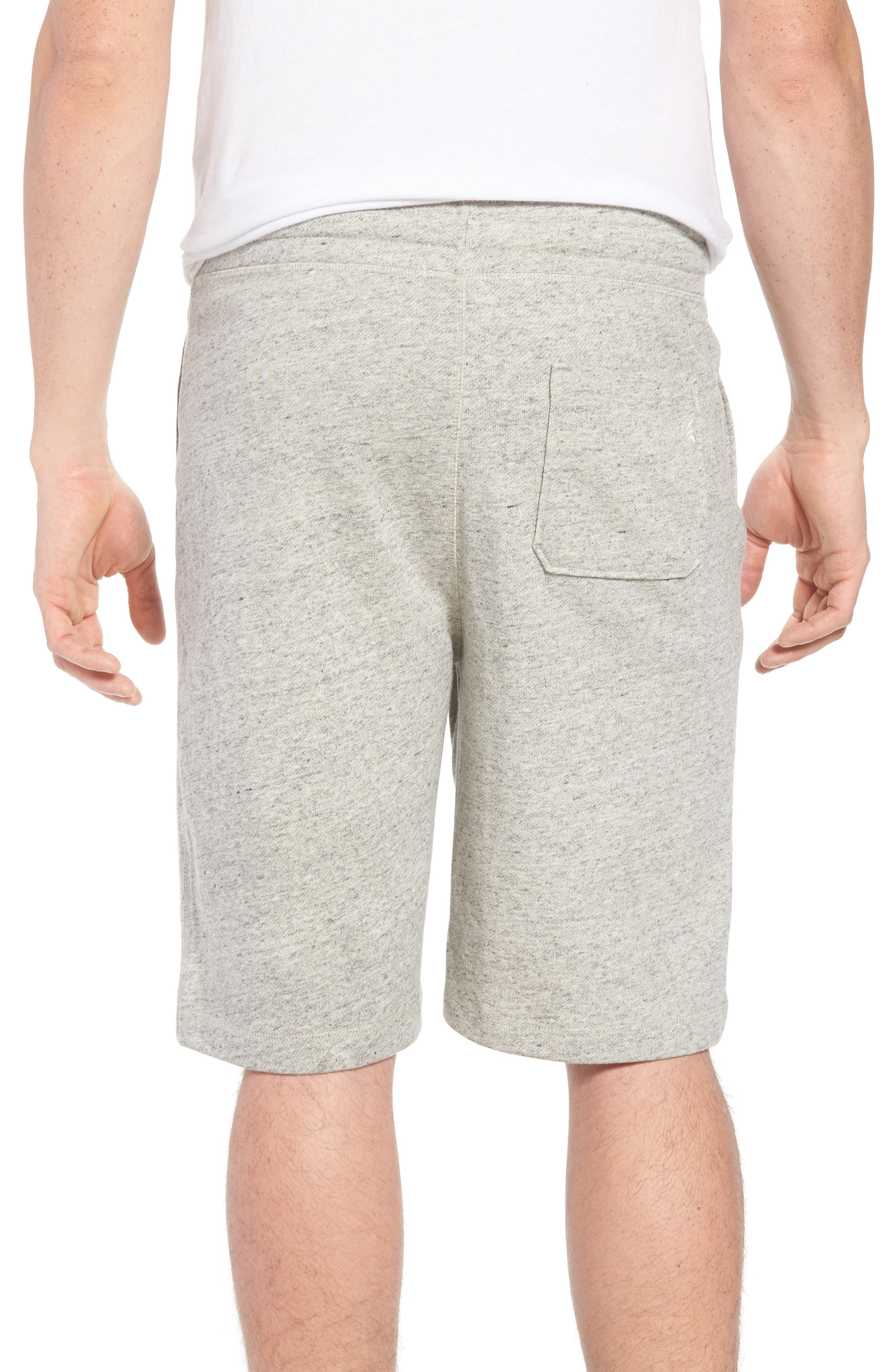 Stretch Cotton Terry Shorts,                             Alternate thumbnail 2, color,                             Grey Heather