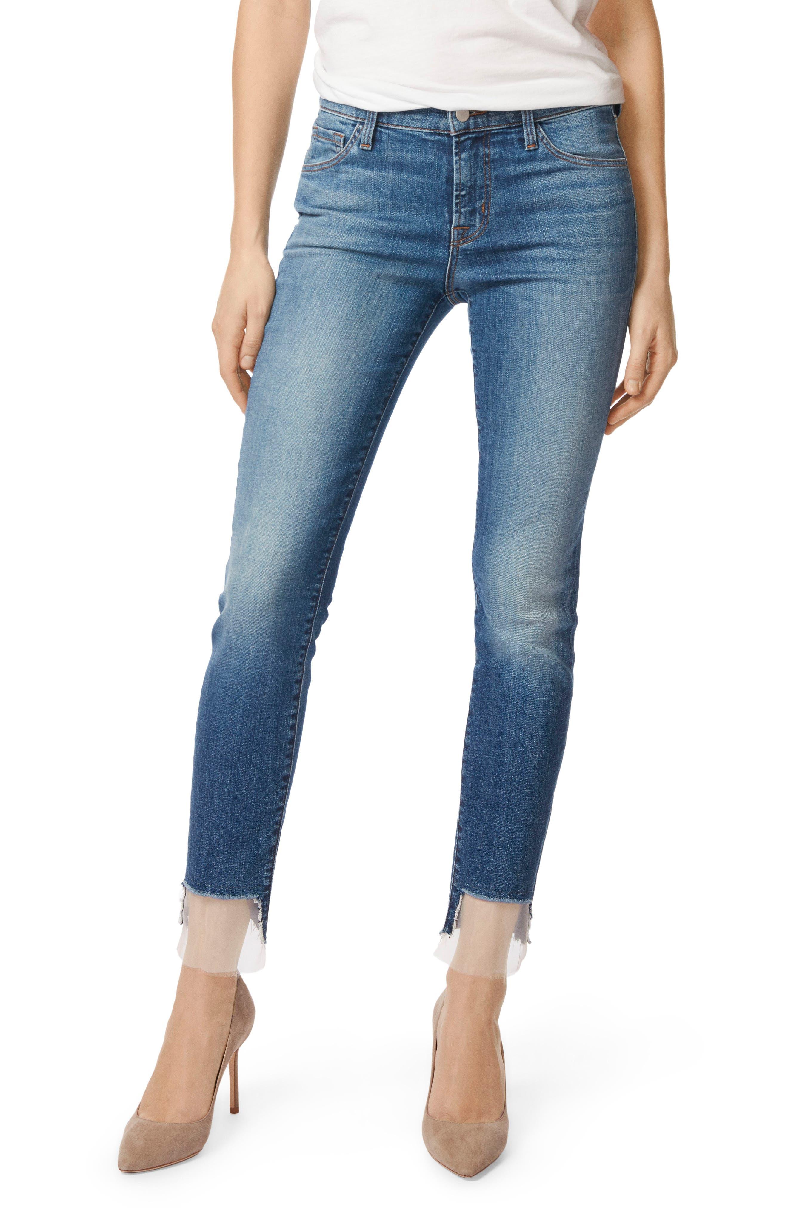 811 Step Hem Skinny Jeans,                             Main thumbnail 1, color,                             Gossamer