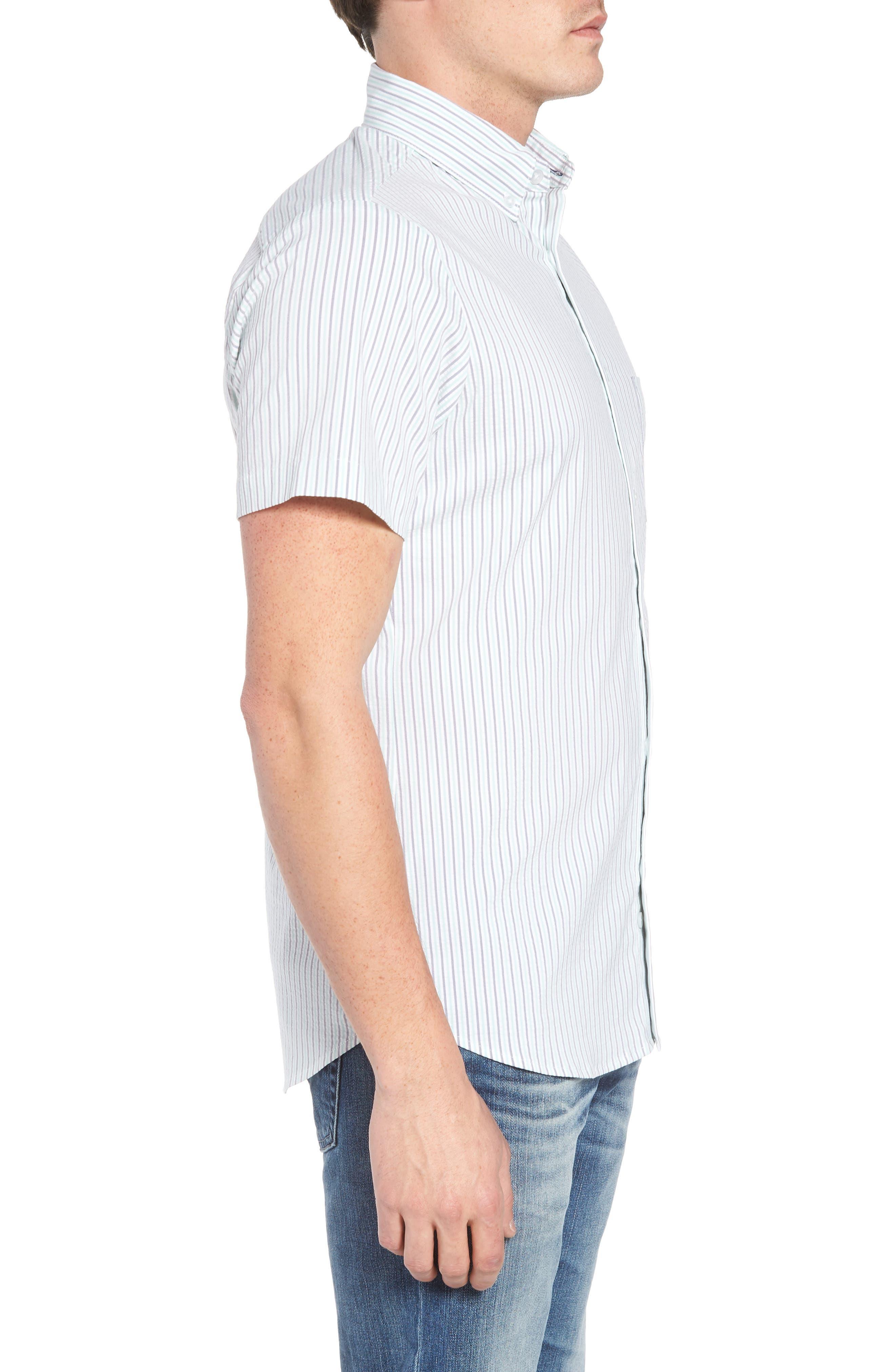 Eastland Short Sleeve Sport Shirt,                             Alternate thumbnail 4, color,                             Green