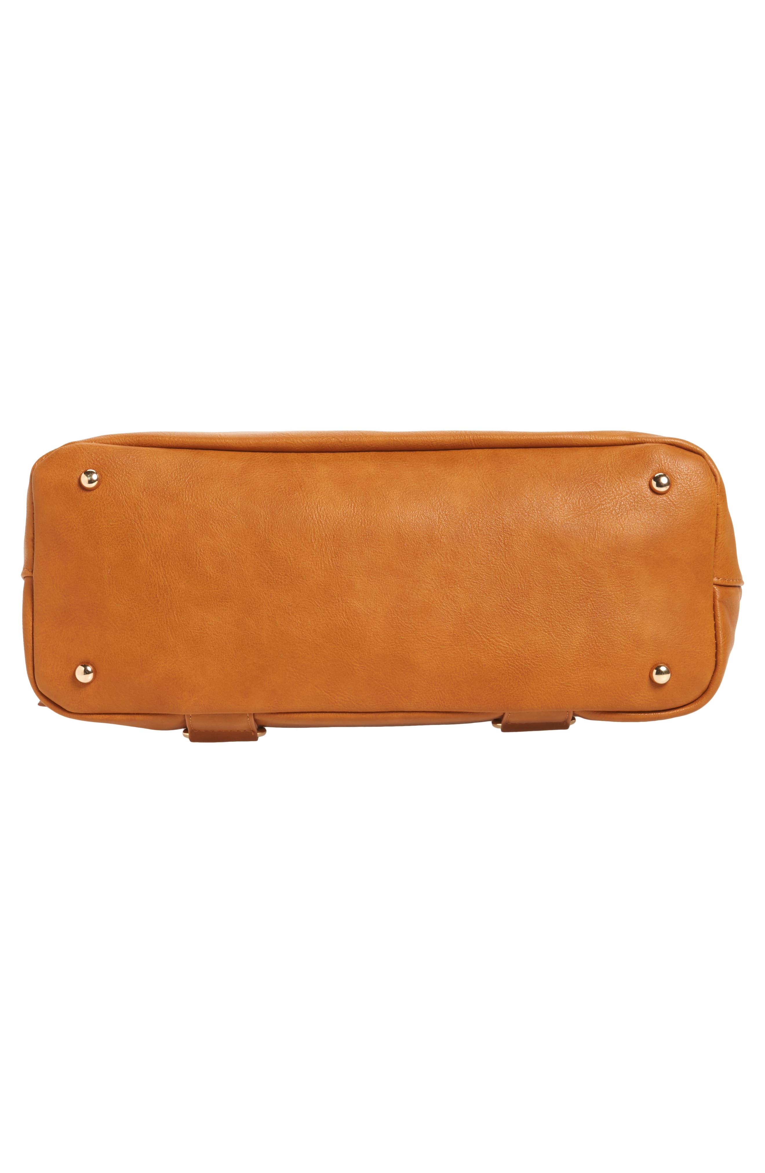 Boss Bag Convertible Diaper Backpack,                             Alternate thumbnail 6, color,                             Cognac