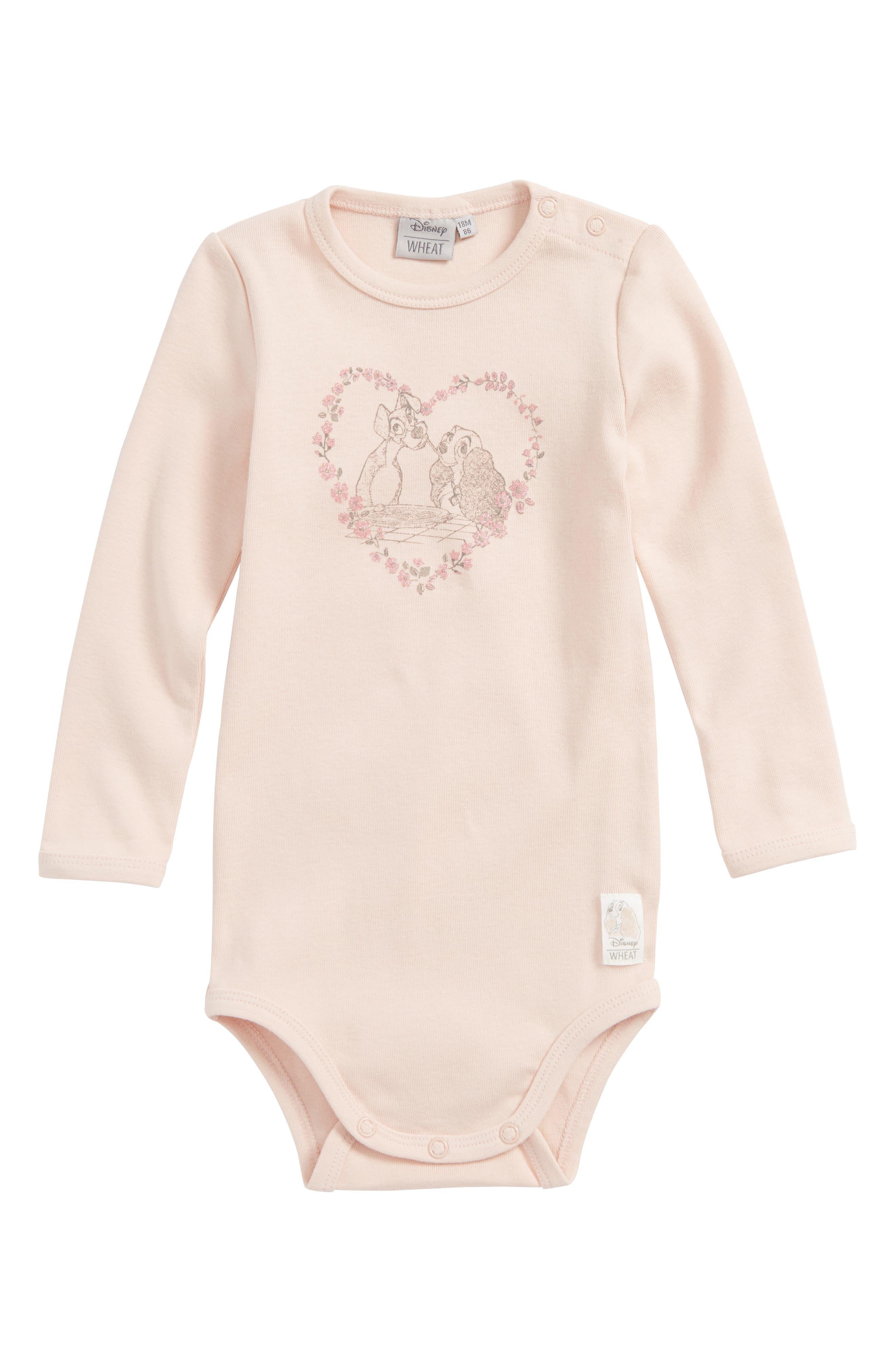 Main Image - Wheat Disney 'Lady & the Tramp' Organic Cotton Bodysuit (Baby Girls & Toddler Girls)