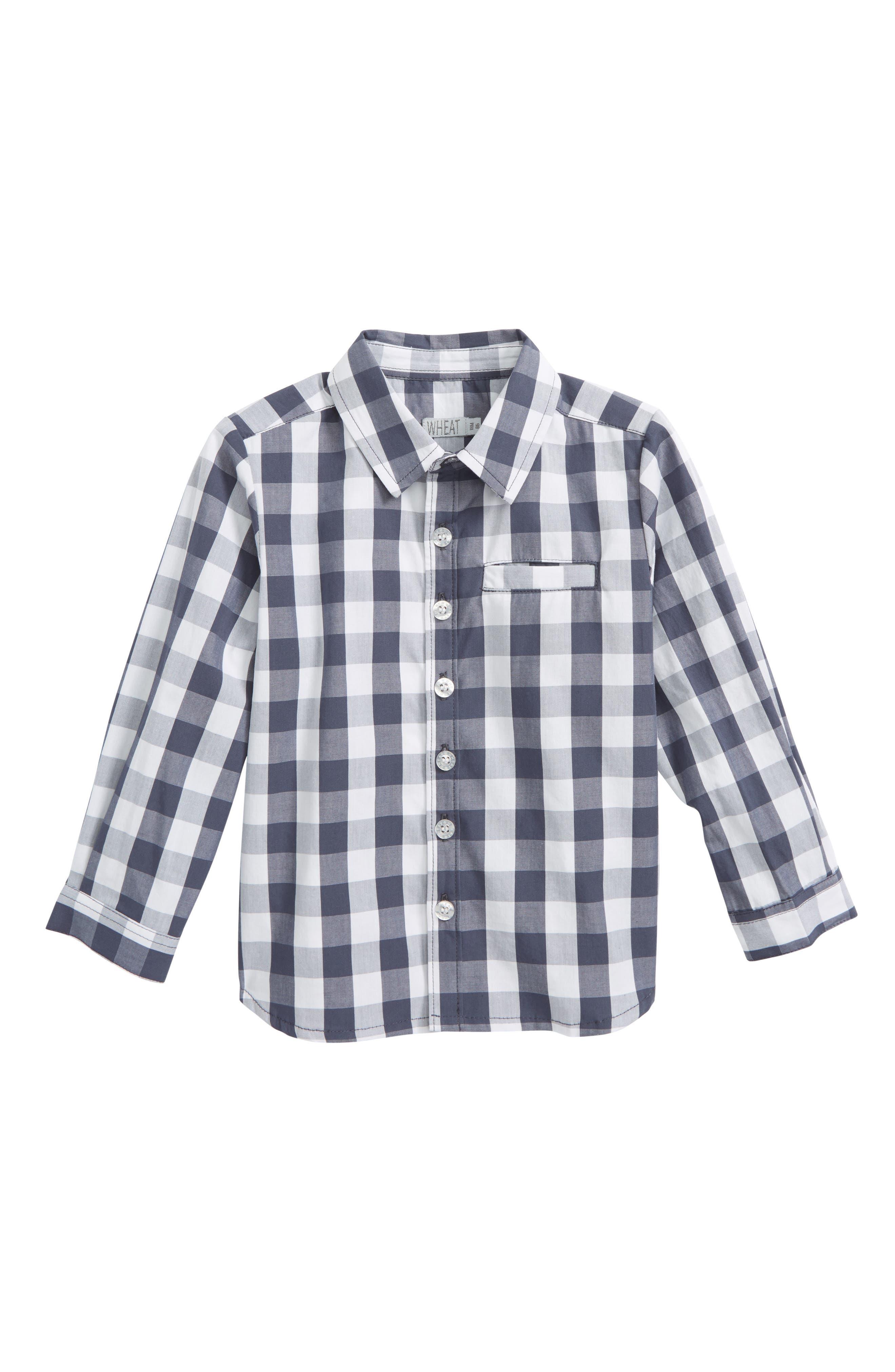 Alternate Image 1 Selected - Wheat Ellias Check Shirt (Baby Boys & Toddler Boys)