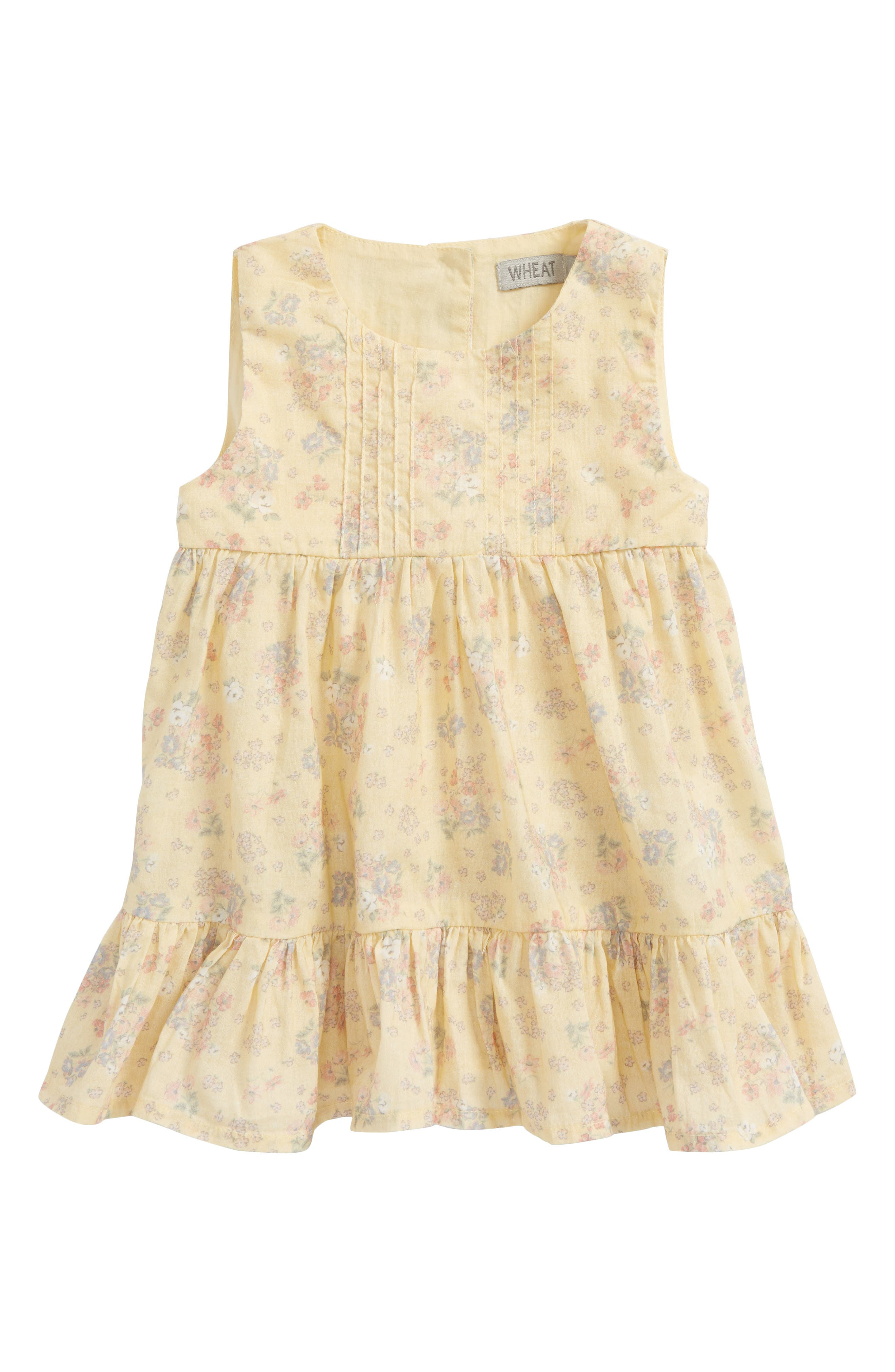 Signe Tiered Sundress,                         Main,                         color, Yellow Sand