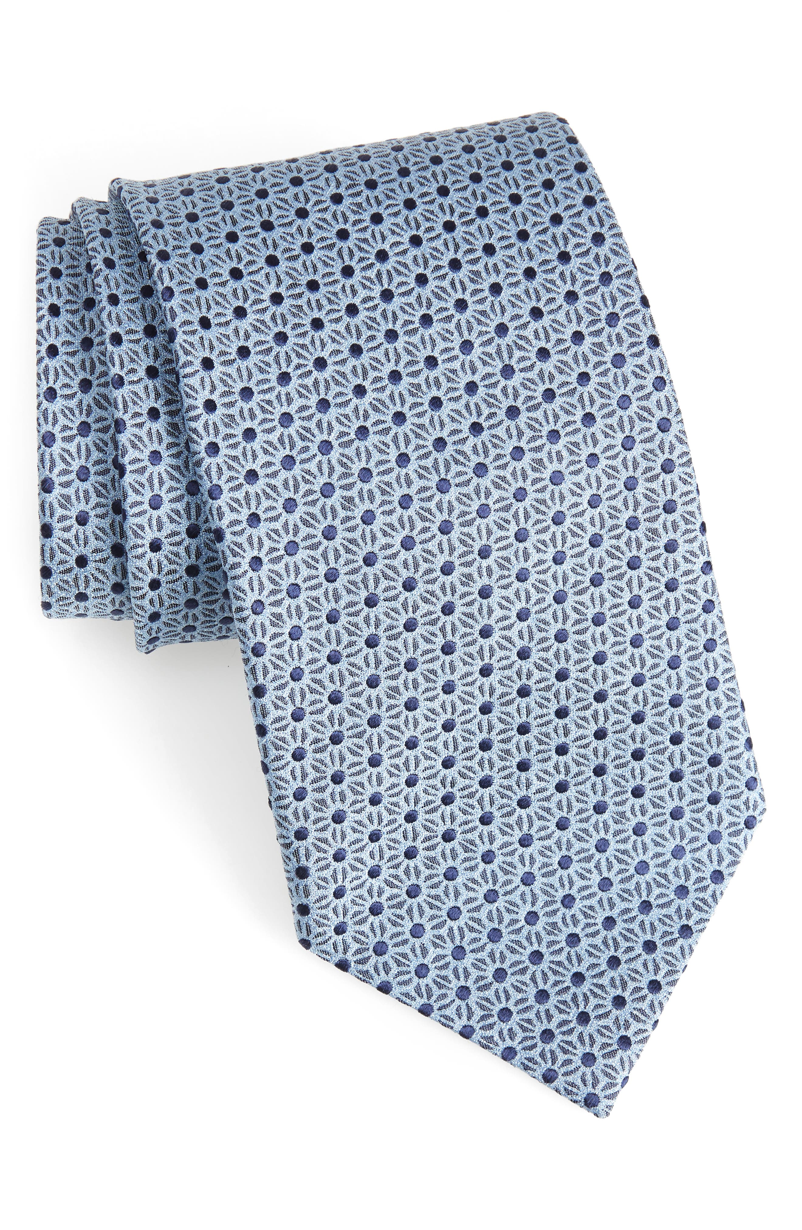 Ermenegildo Zegna Floral Silk Tie (X-Long)