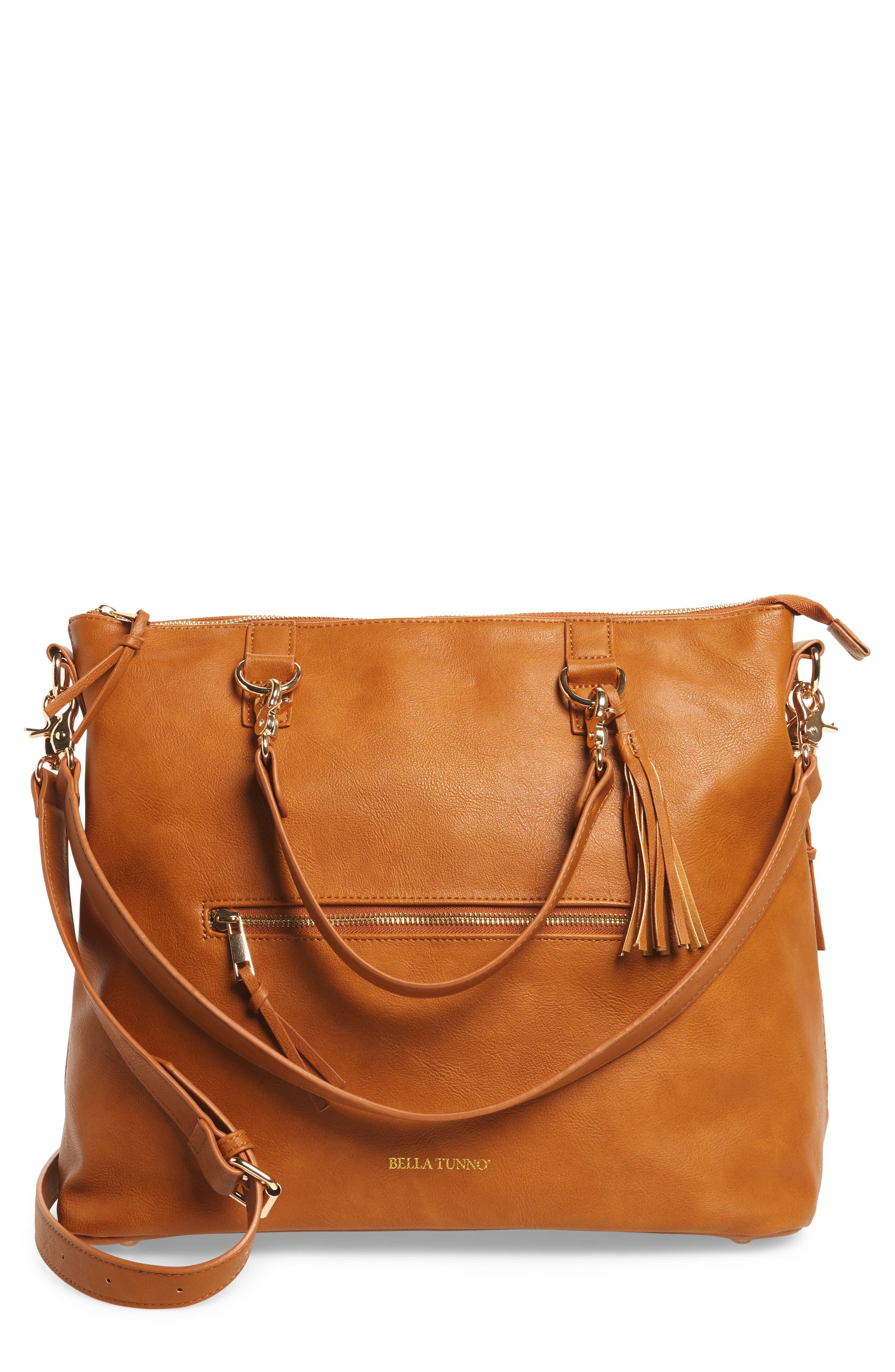 Boss Bag Convertible Diaper Backpack,                             Alternate thumbnail 7, color,                             Cognac