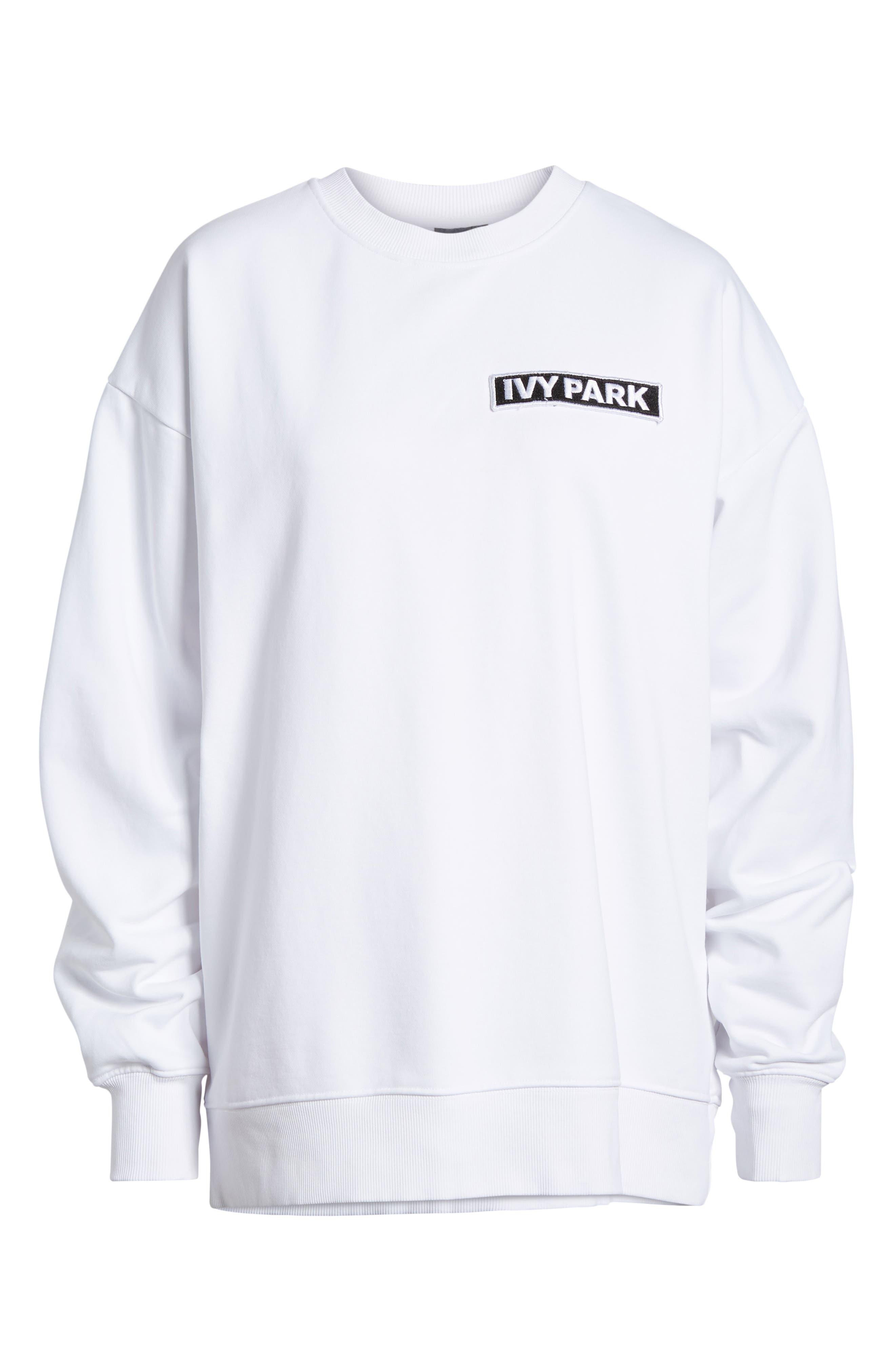 Flag Badge Sweatshirt,                             Alternate thumbnail 7, color,                             White