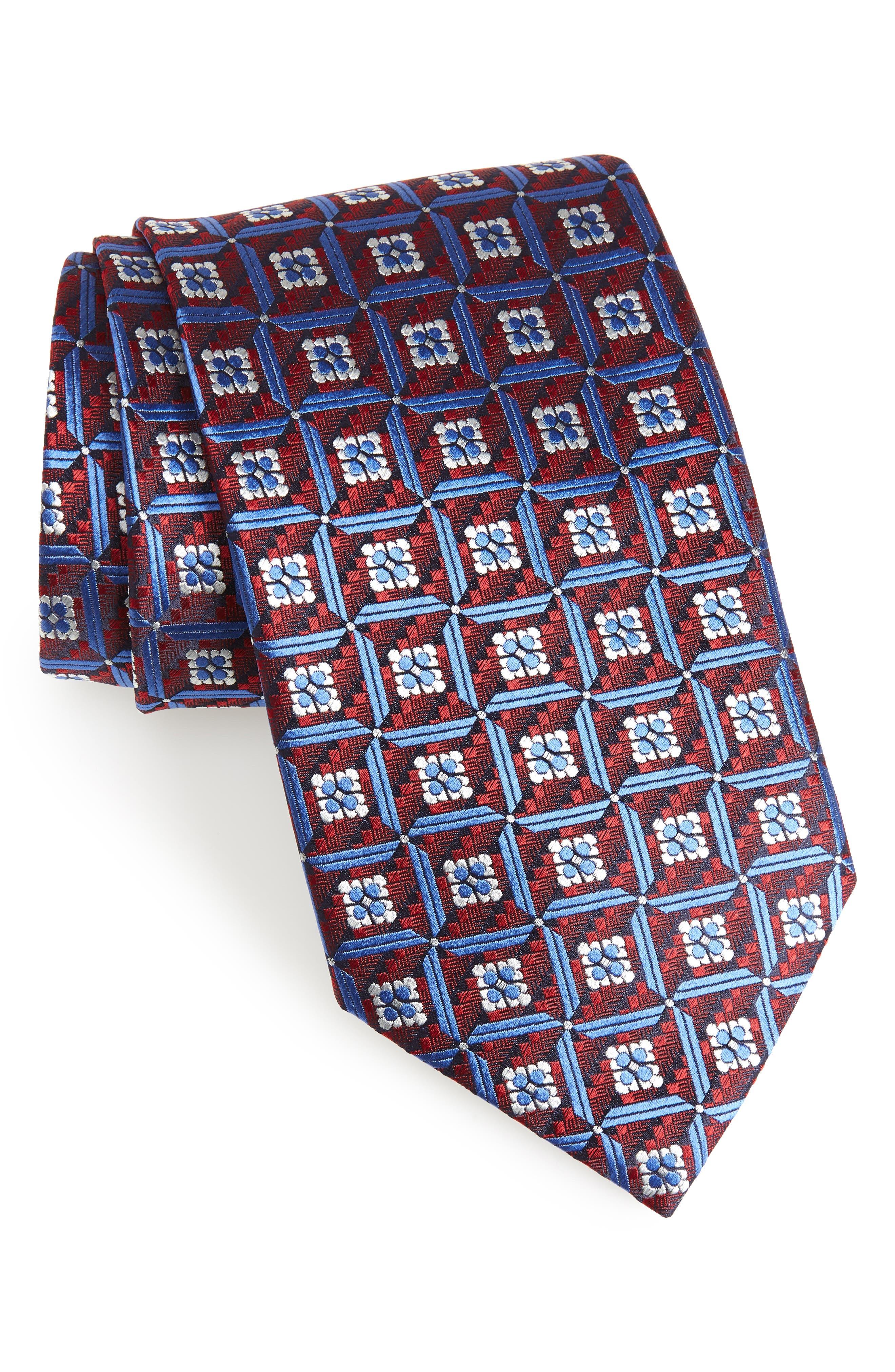 Ermenegildo Zegna Geometric Silk Tie (X-Long)