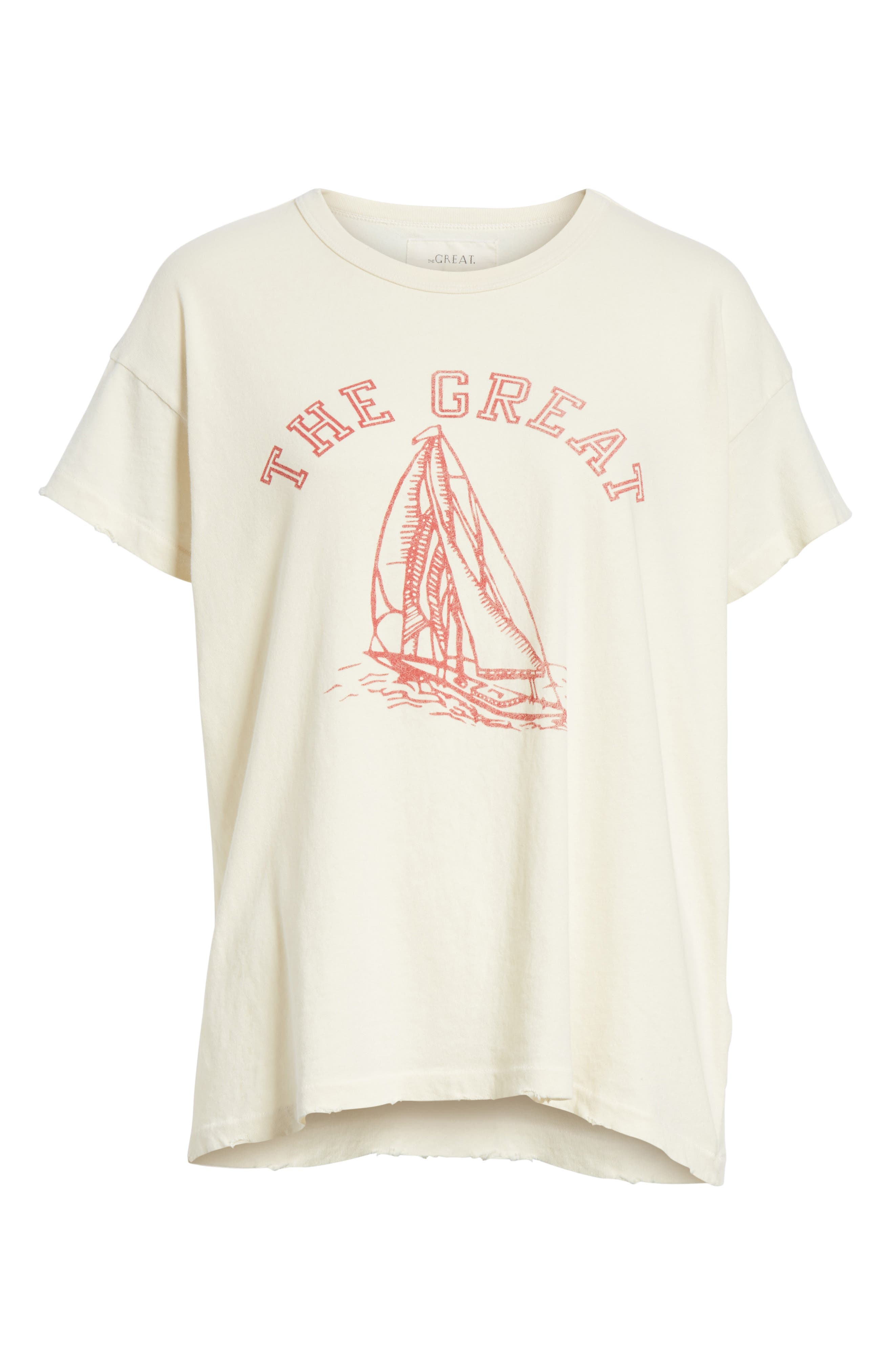 Tee,                             Alternate thumbnail 6, color,                             Washed White