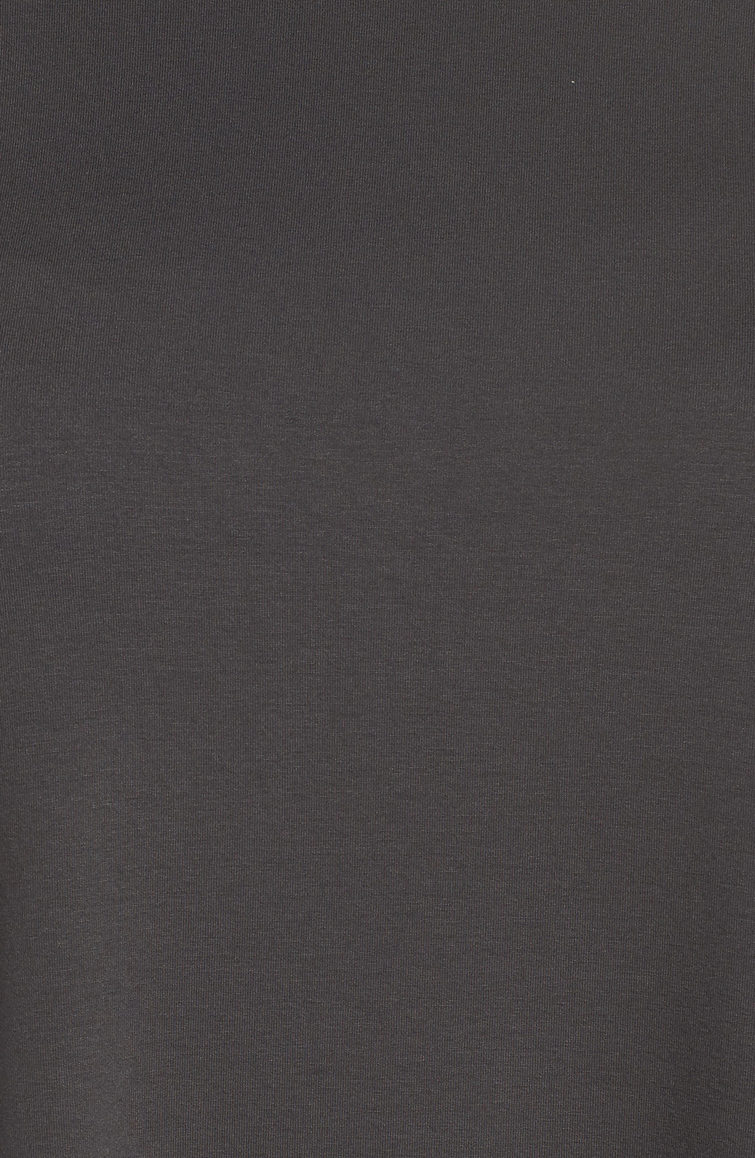 Jewel Neck Asymmetrical Top,                             Alternate thumbnail 6, color,                             Graphite