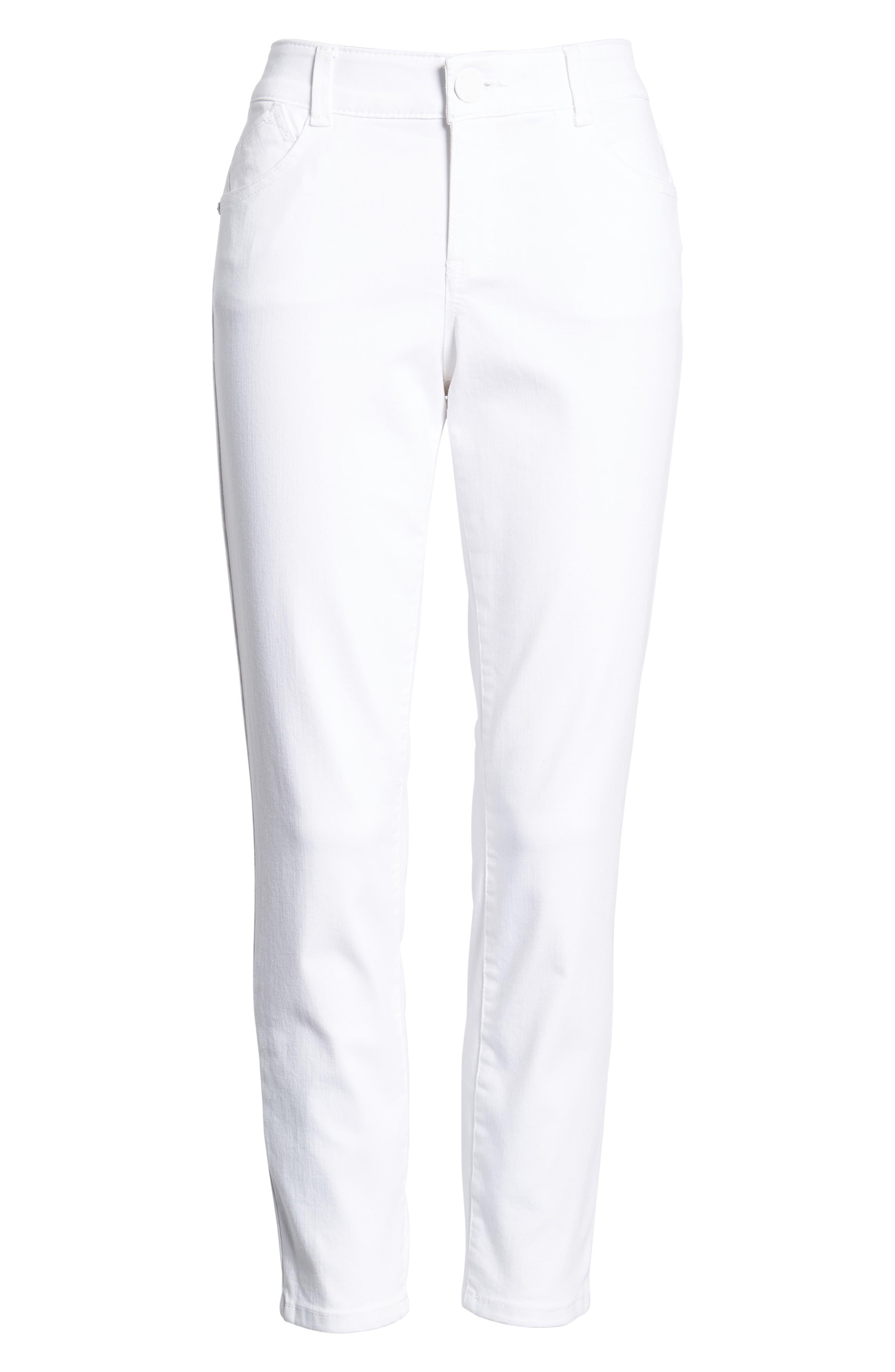 Ab-solution Ankle Skimmer Jeans,                             Alternate thumbnail 7, color,                             Optic White