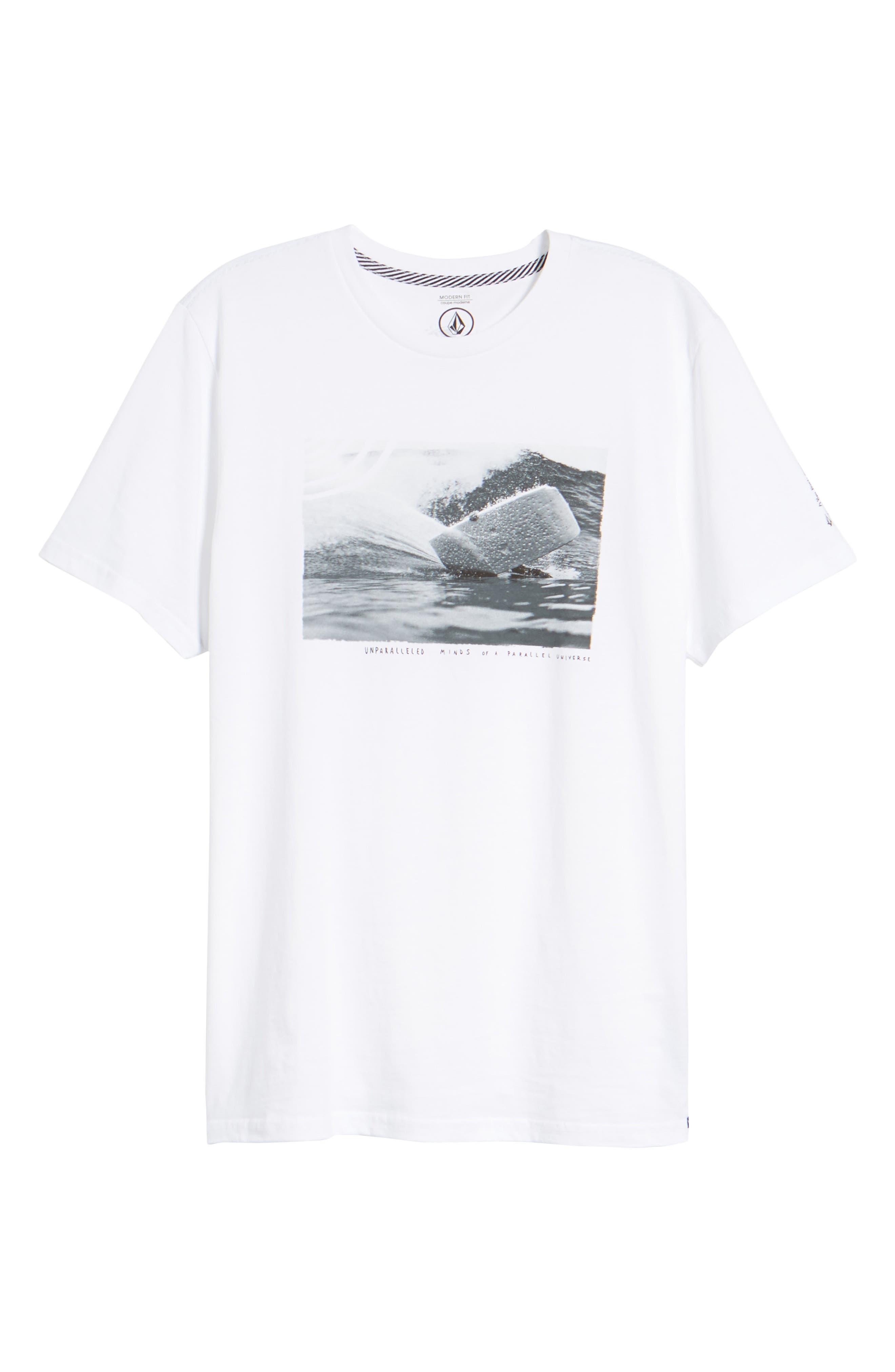 Burch Foam Graphic T-Shirt,                             Alternate thumbnail 6, color,                             White