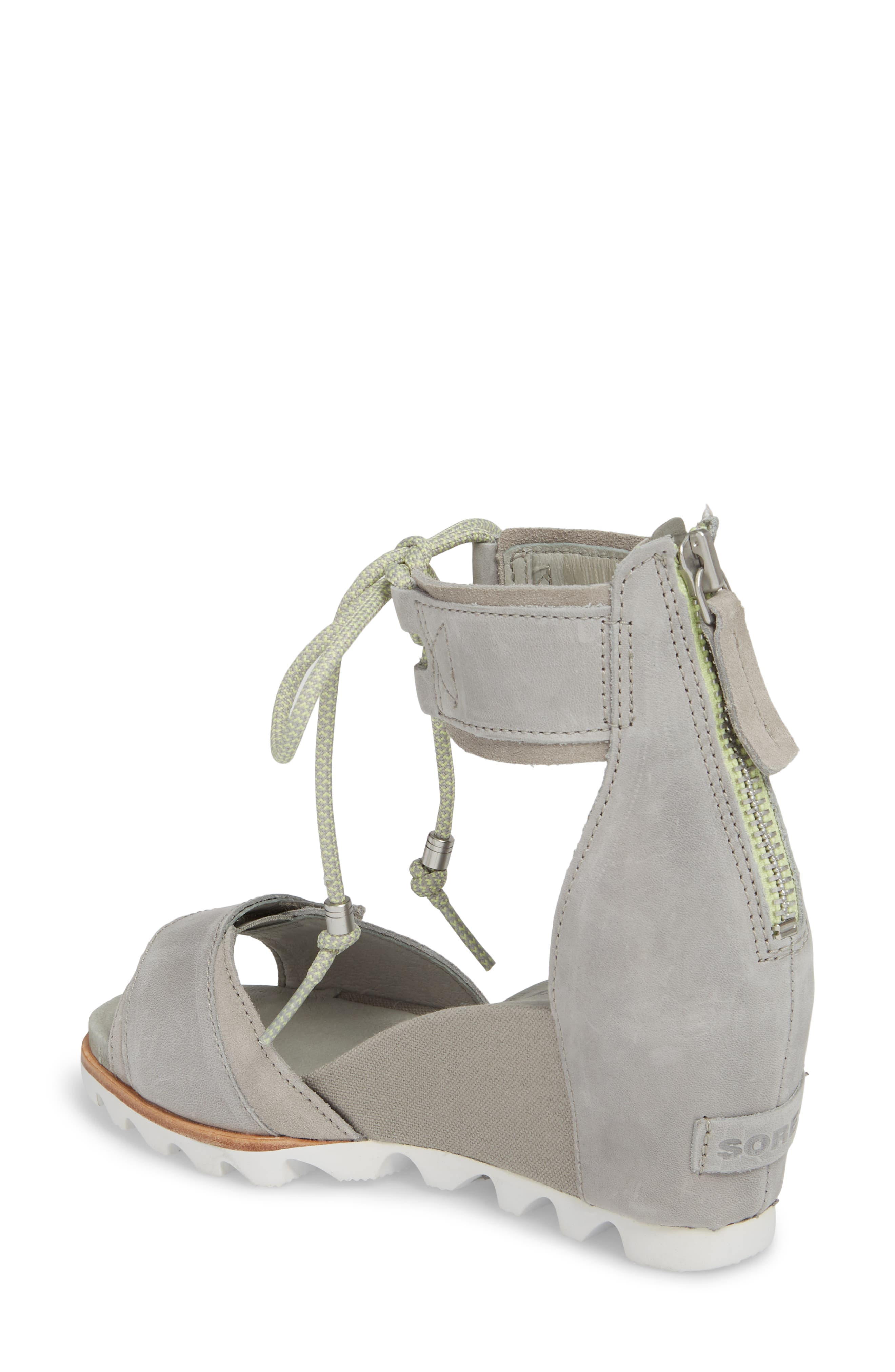 Joanie Cuff Wedge Sandal,                             Alternate thumbnail 2, color,                             Dove