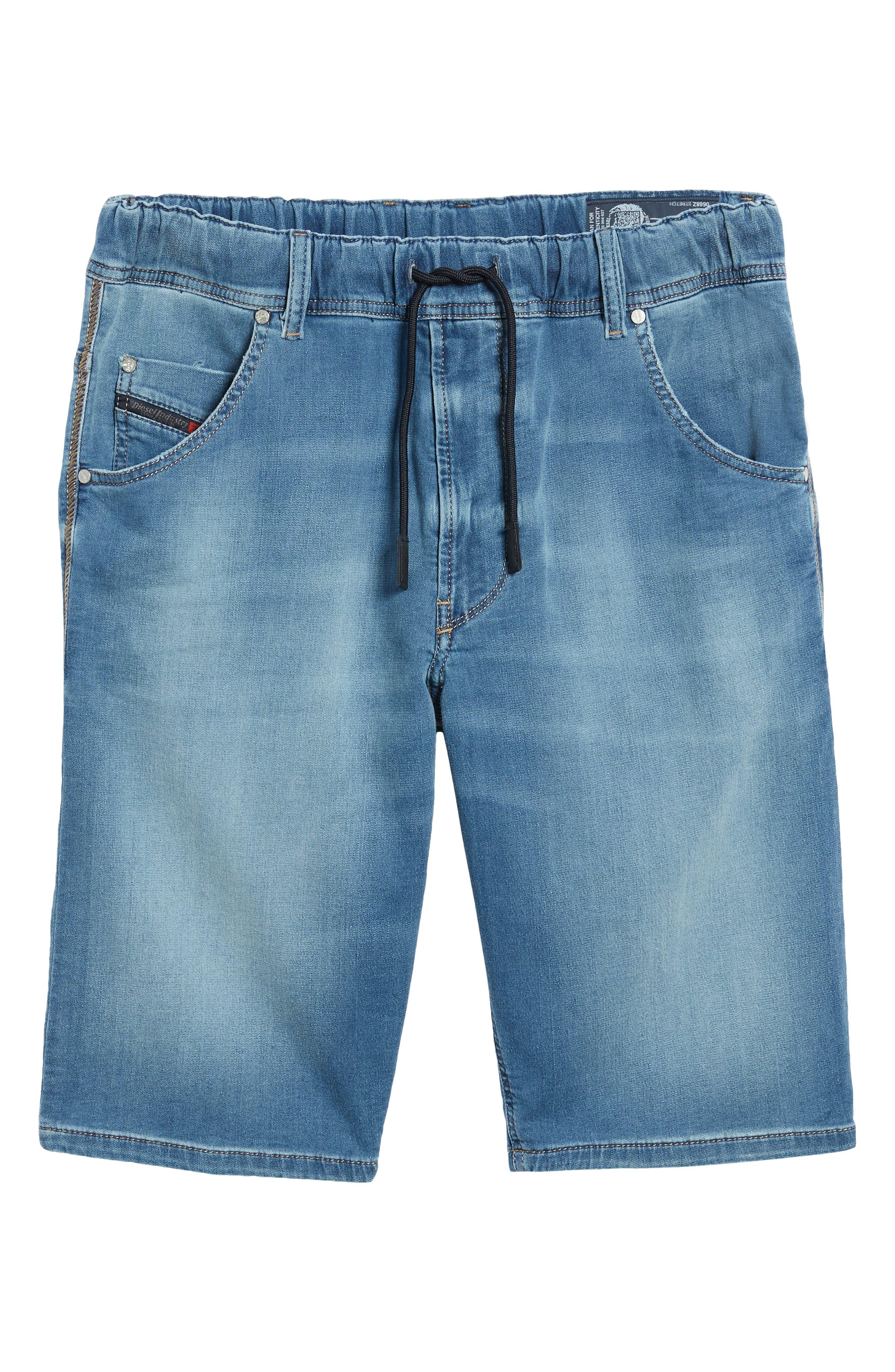 Krooshort Denim Shorts,                             Alternate thumbnail 6, color,                             Denim