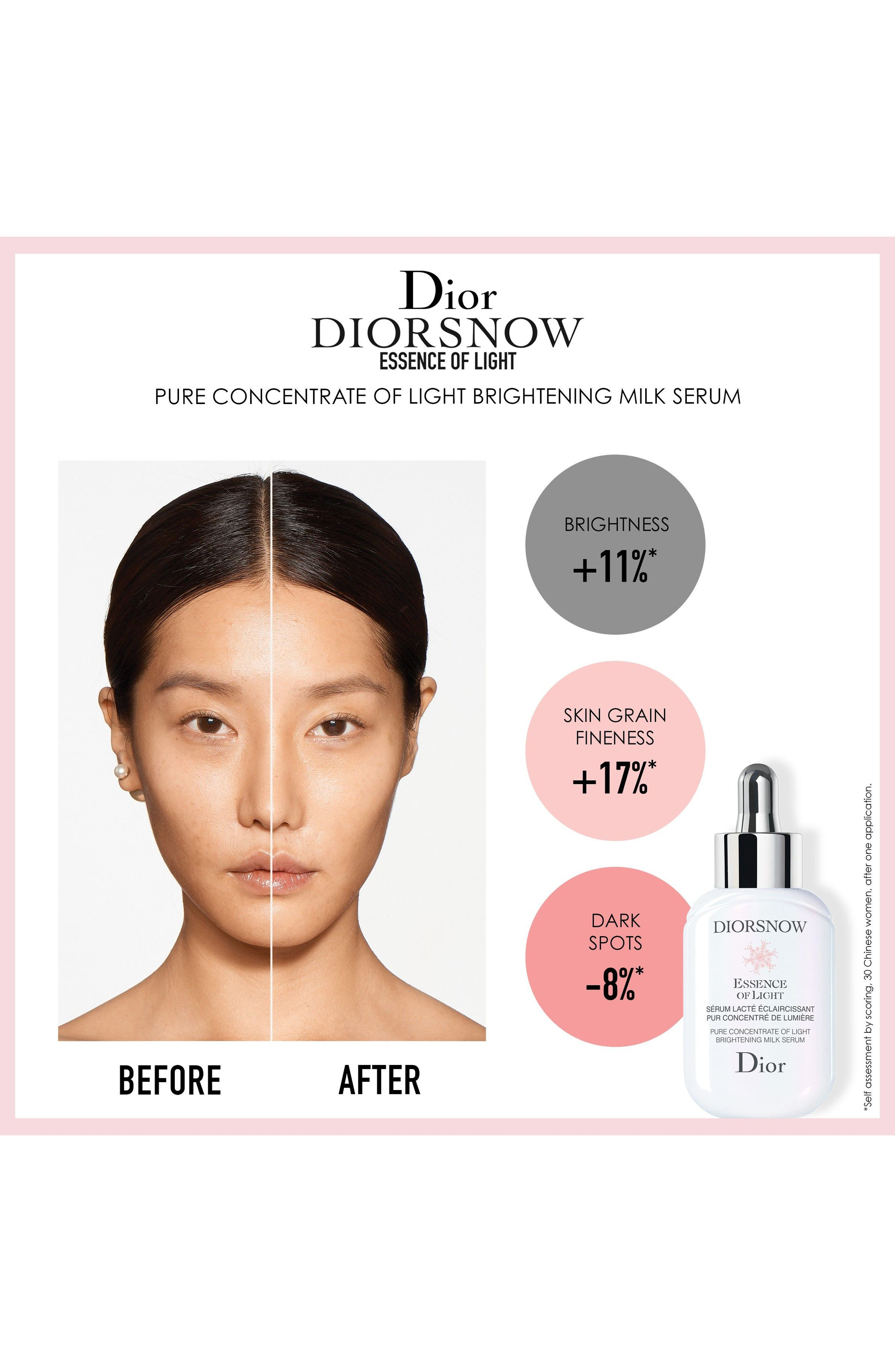 Diorsnow Essence of Light Brightening Milk Serum,                             Alternate thumbnail 4, color,
