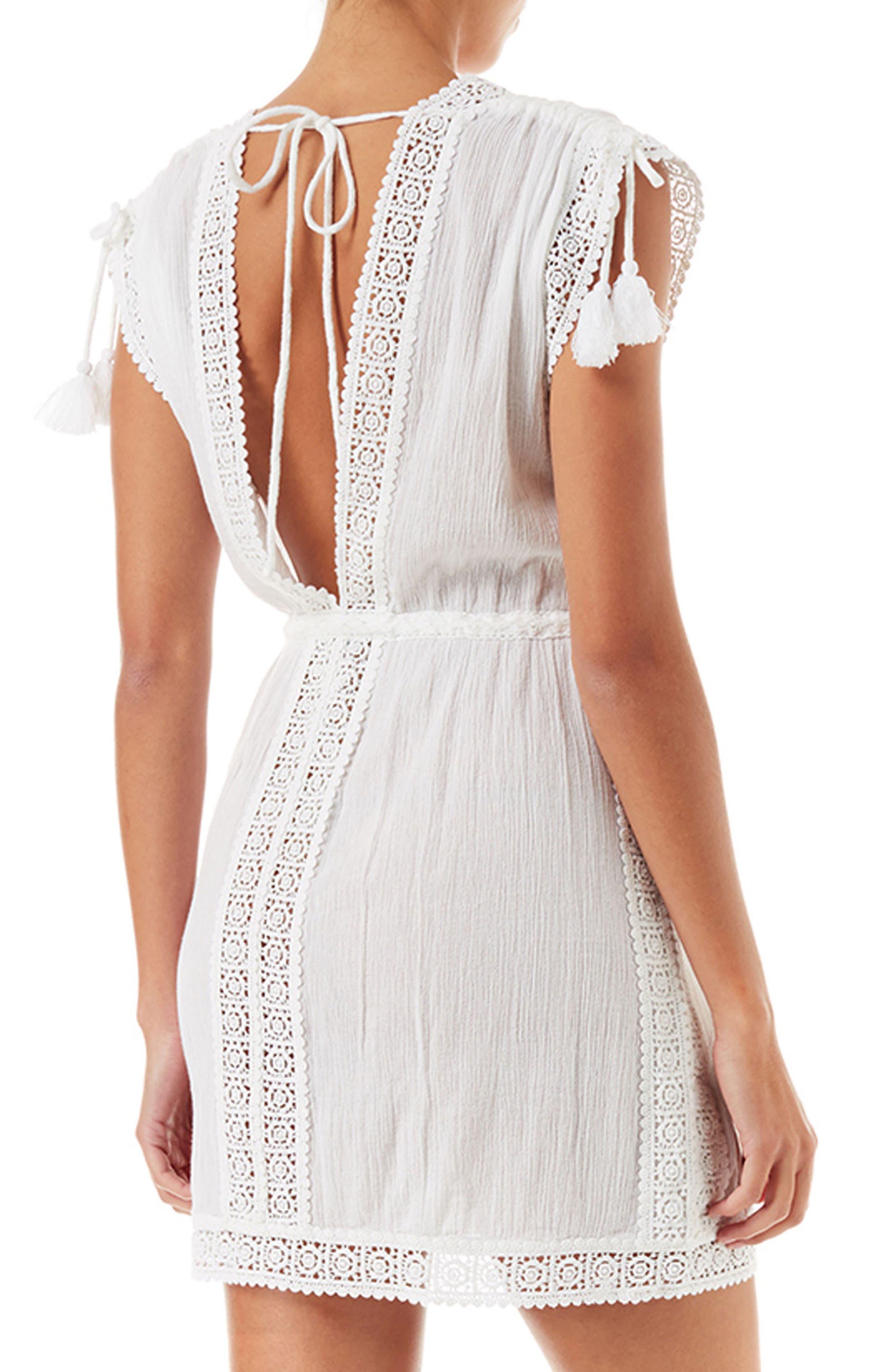 Jennifer Cover-up Dress,                             Alternate thumbnail 2, color,                             White