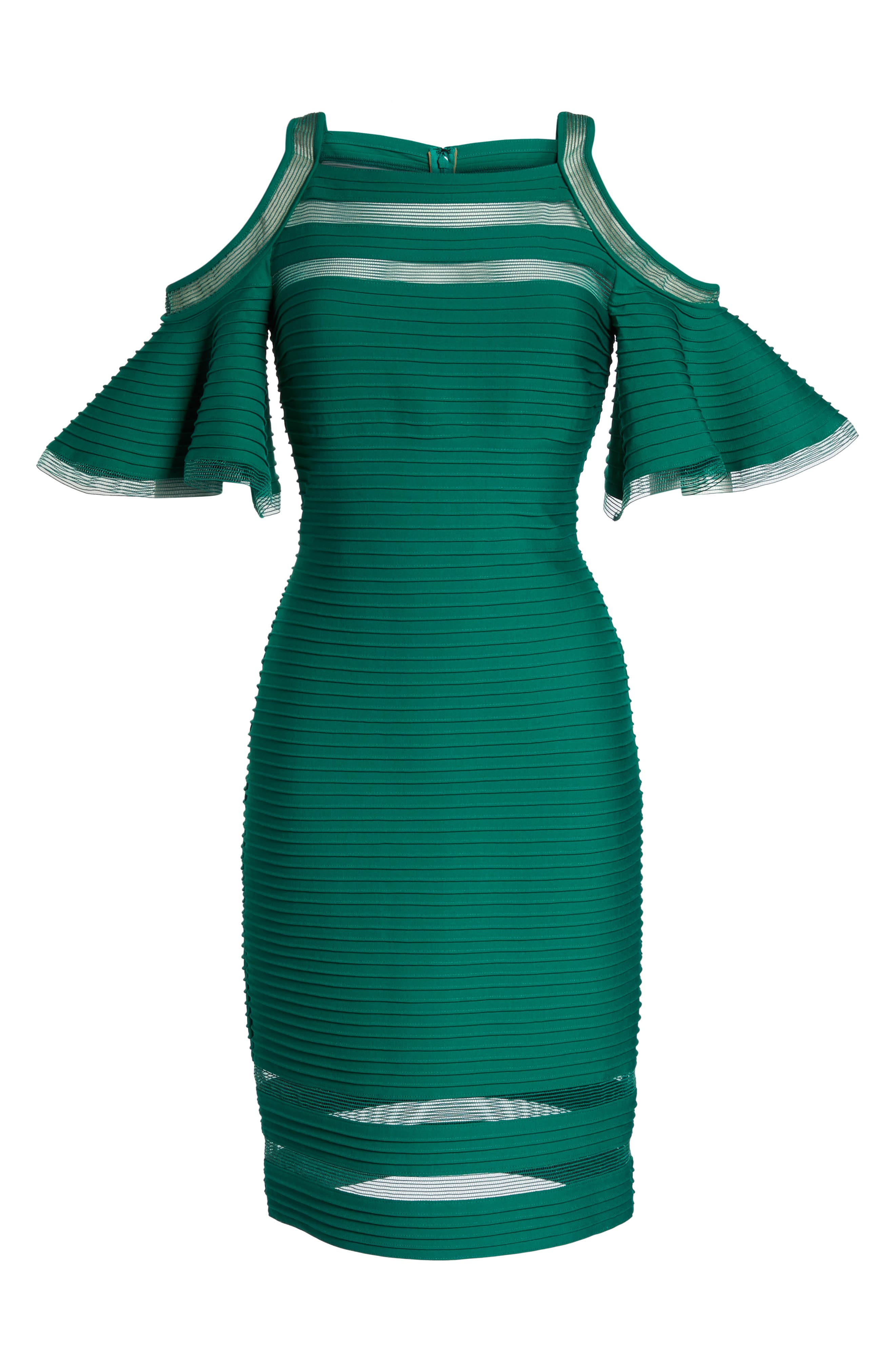 Alternate Image 6  - Tadashi Shoji Cold Shoulder Sheath Dress