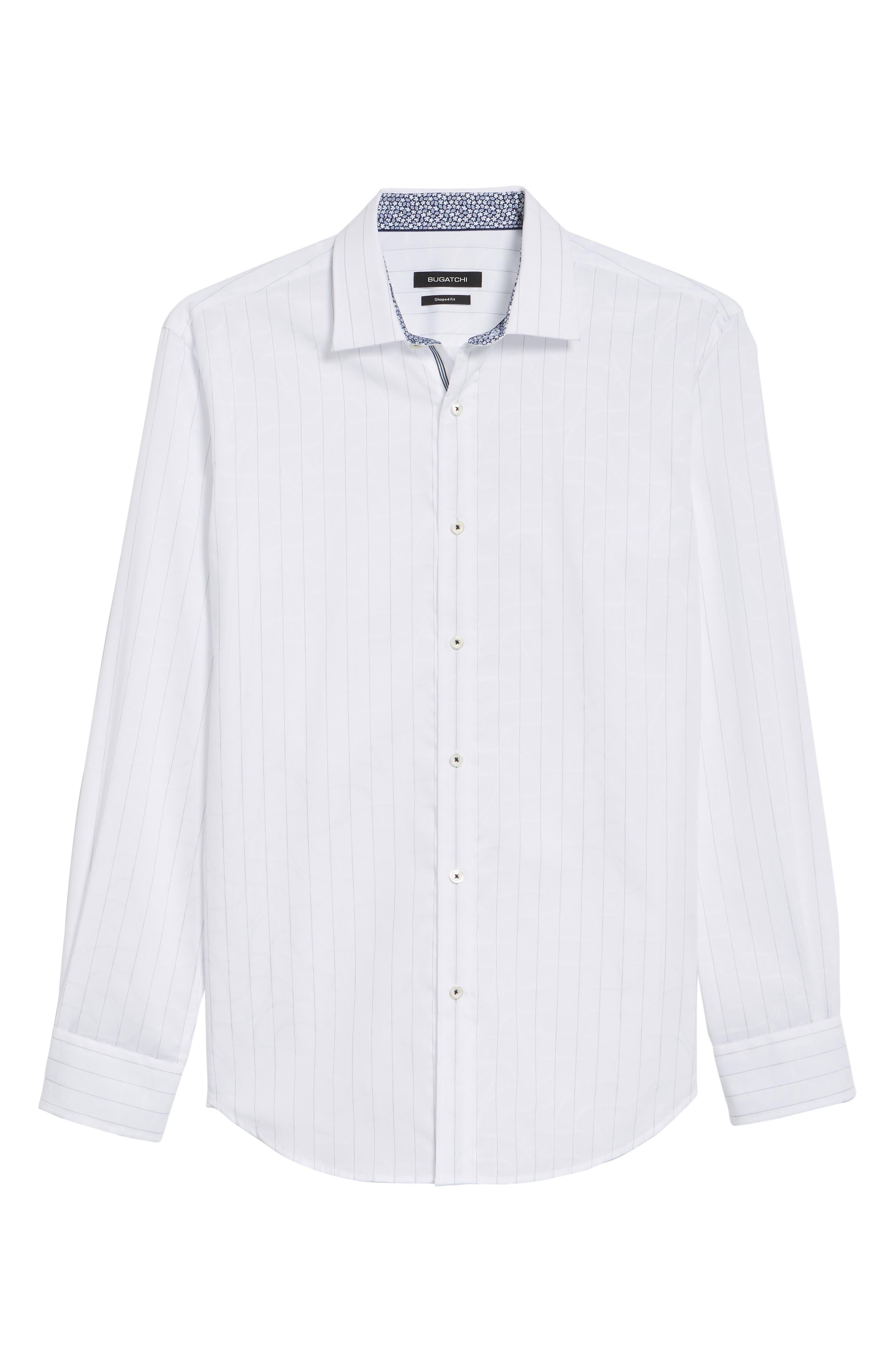 Woven Sport Shirt,                             Alternate thumbnail 6, color,                             White