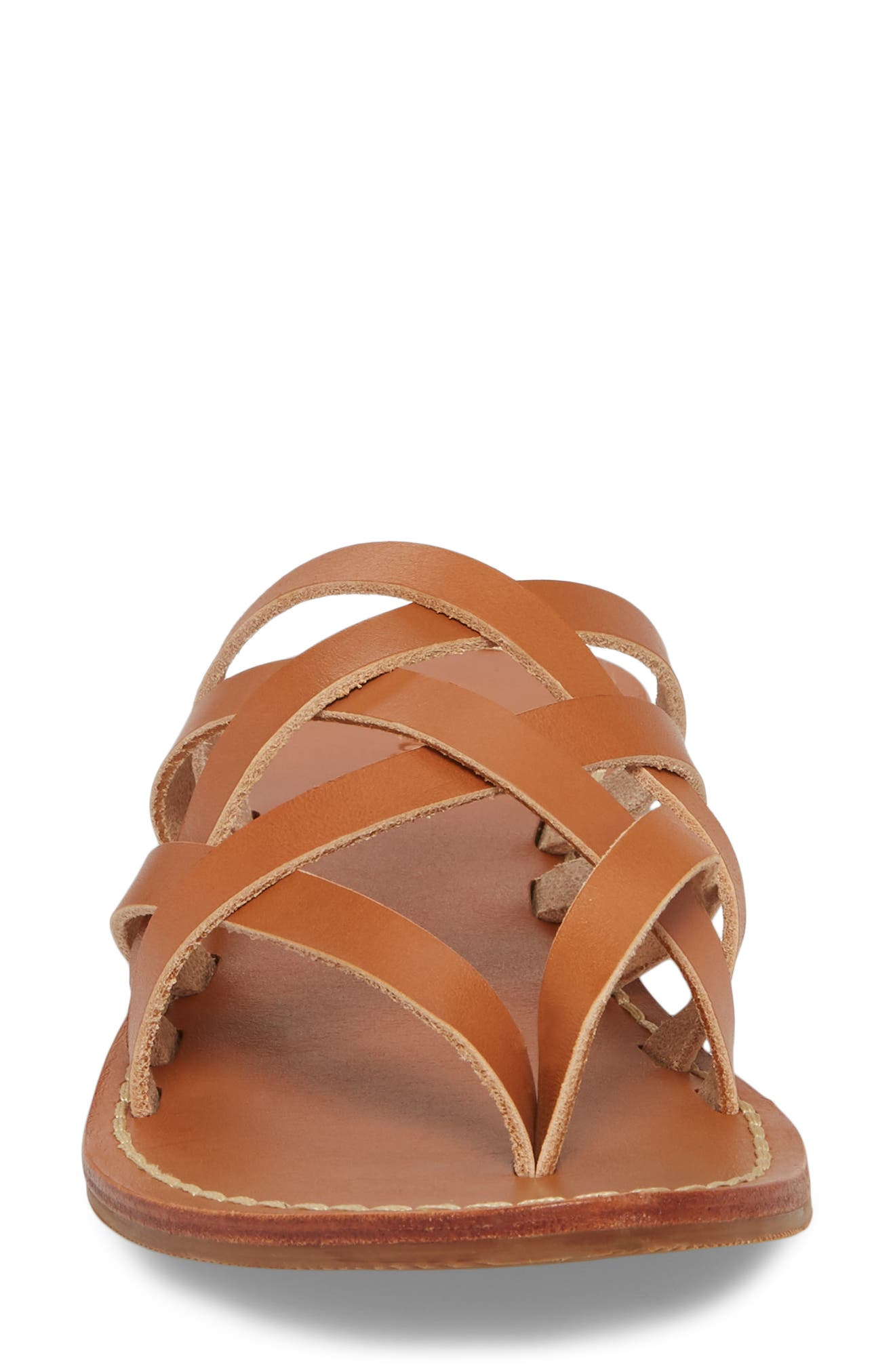 Strappy Sandal,                             Alternate thumbnail 4, color,                             Natural Leather
