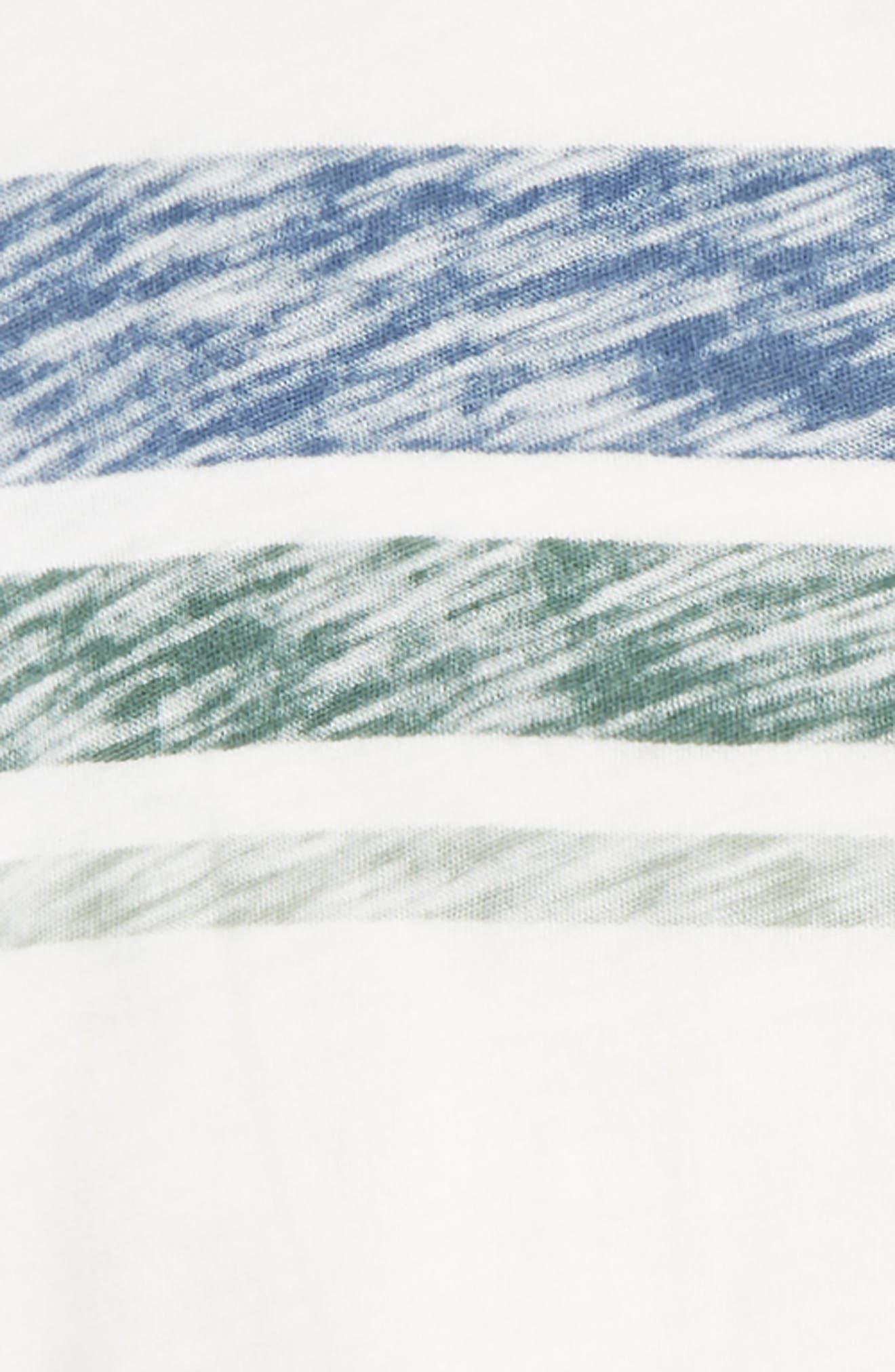 Reverse Stripe Top & Shorts Set,                             Alternate thumbnail 3, color,                             White