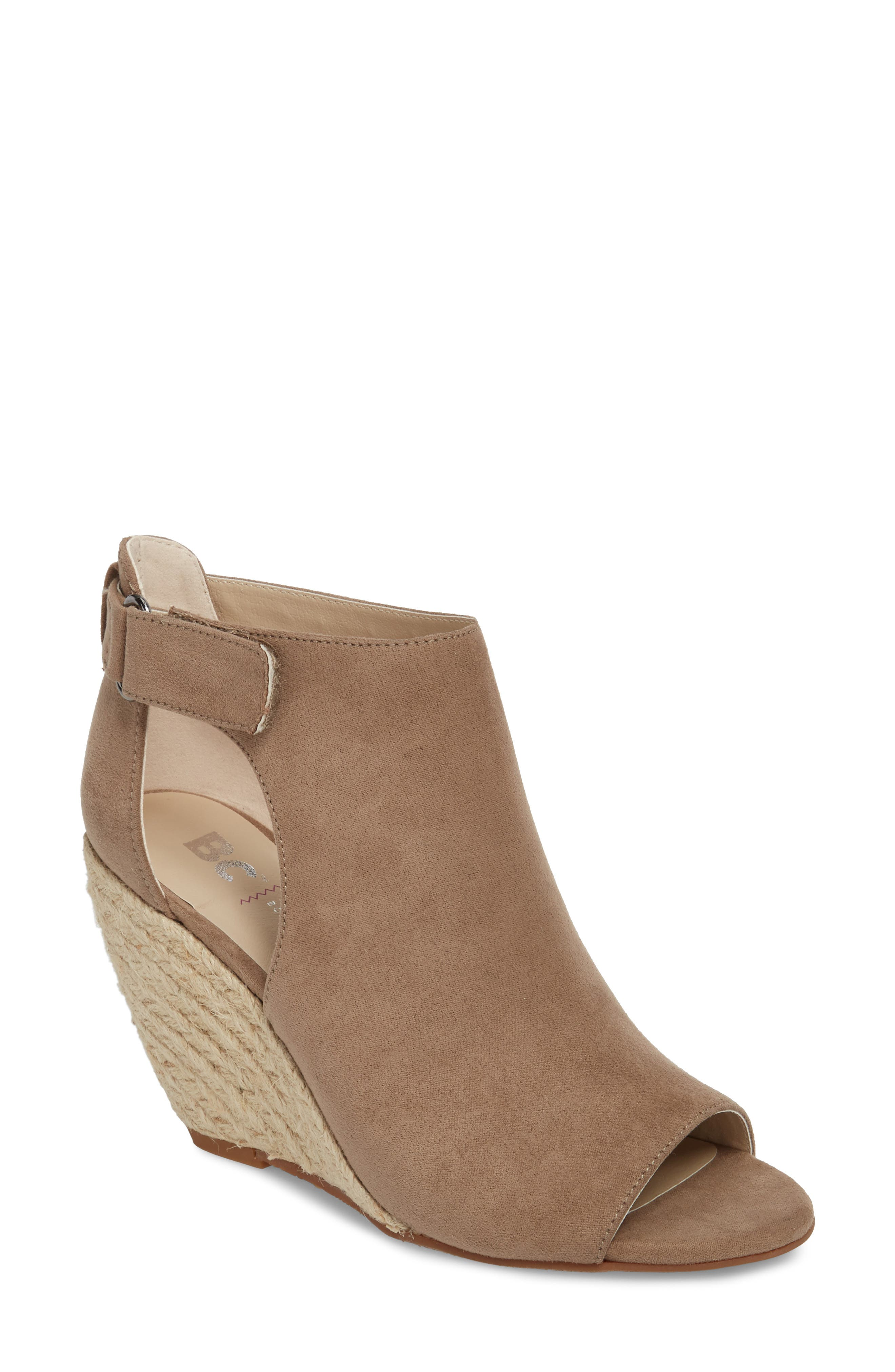 Theme Park Wedge Bootie,                         Main,                         color, Taupe Nubuck