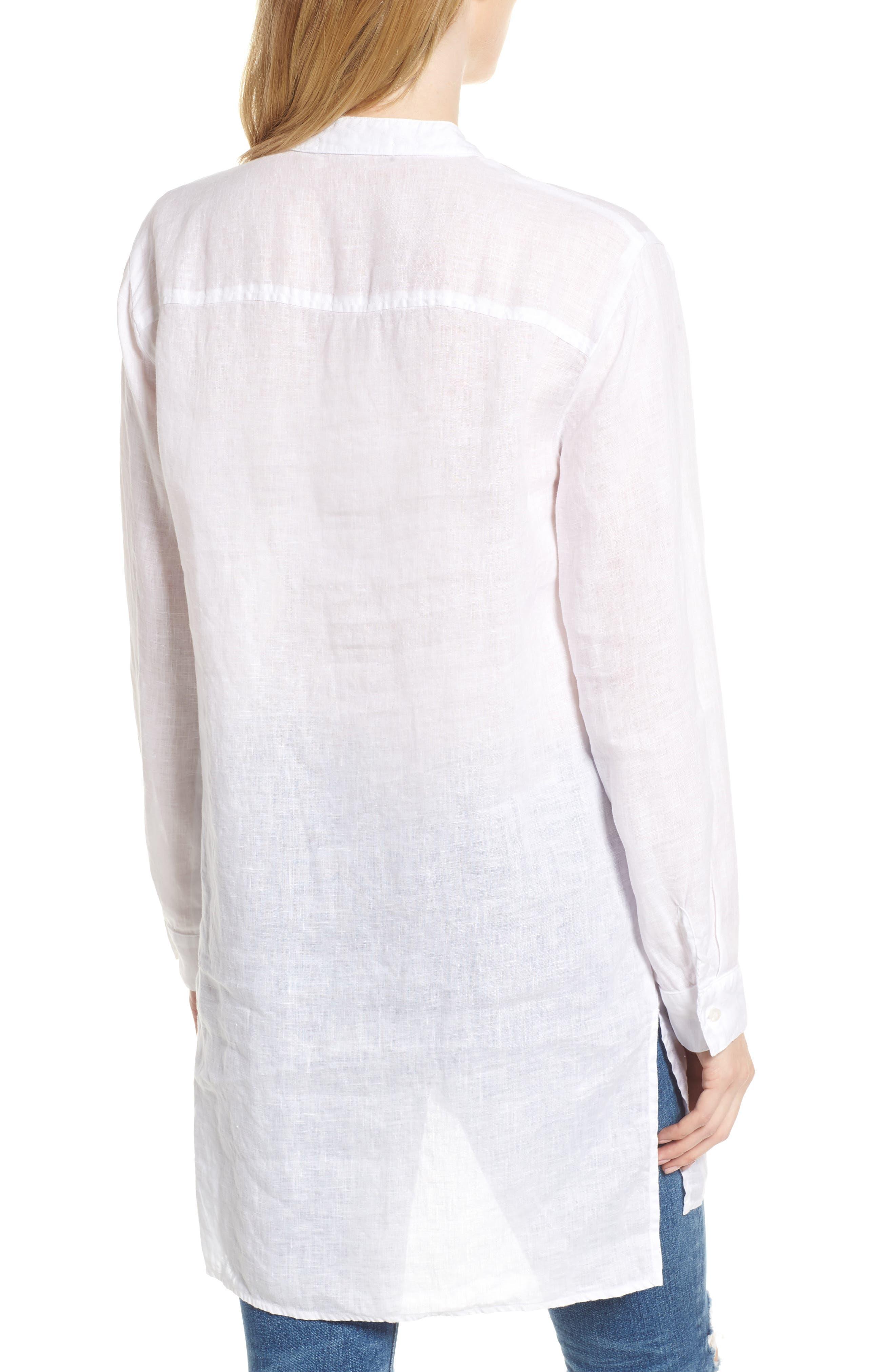 Shirting Tunic Top,                             Alternate thumbnail 2, color,                             White