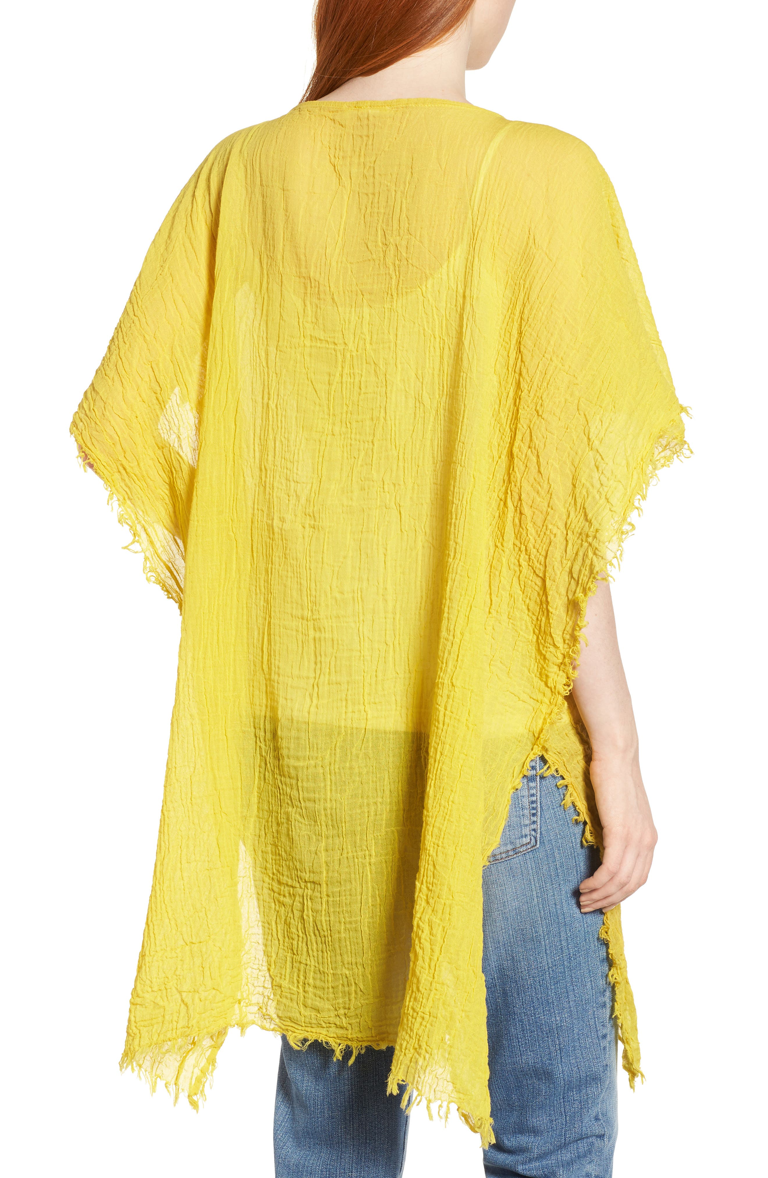 Organic Cotton Poncho,                             Alternate thumbnail 2, color,                             Yarrow