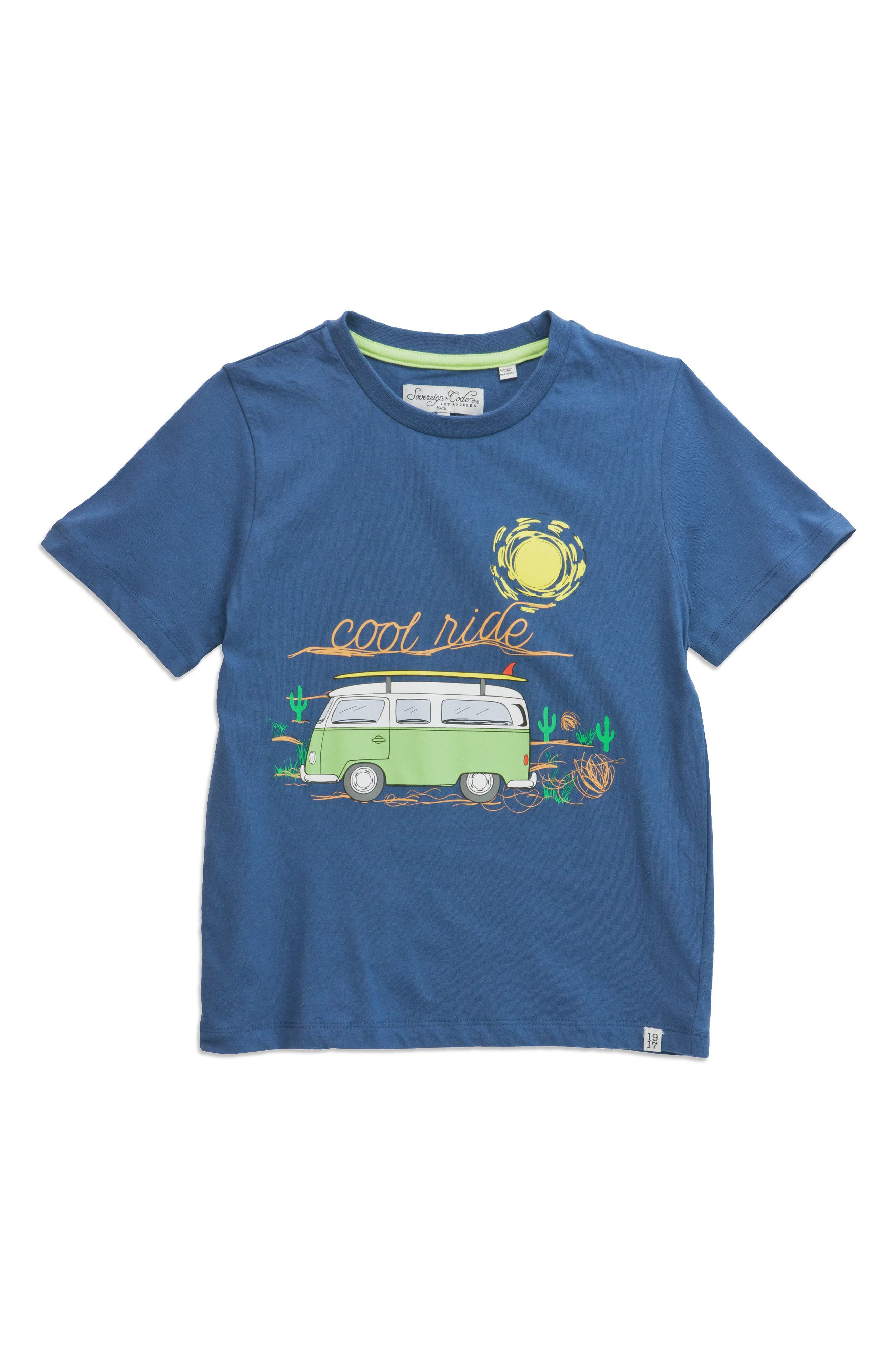 Cool Ride Graphic T-Shirt,                         Main,                         color, Navy