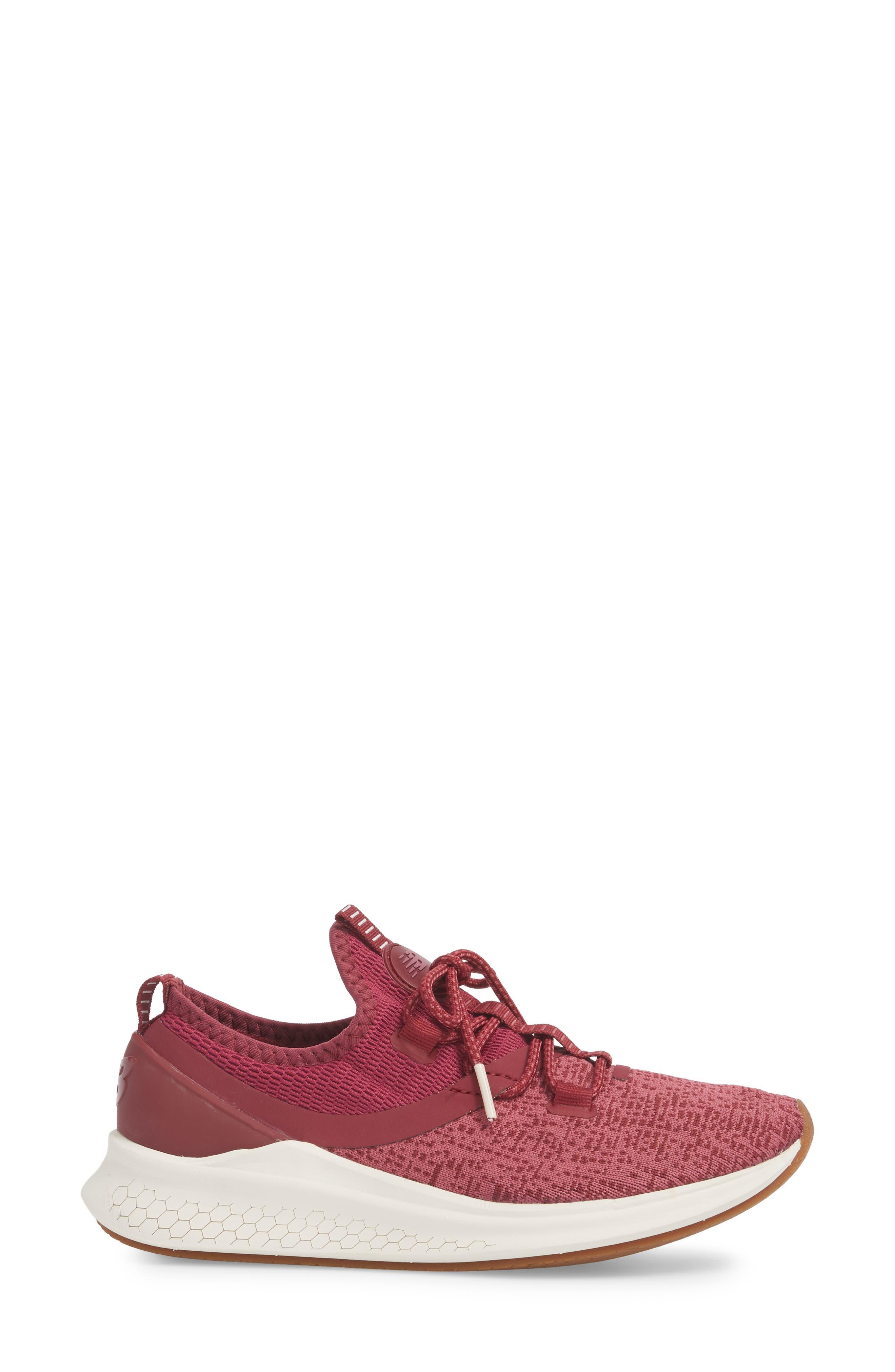 Fresh Foam Lazr Sport Running Shoe,                             Alternate thumbnail 3, color,                             Purple