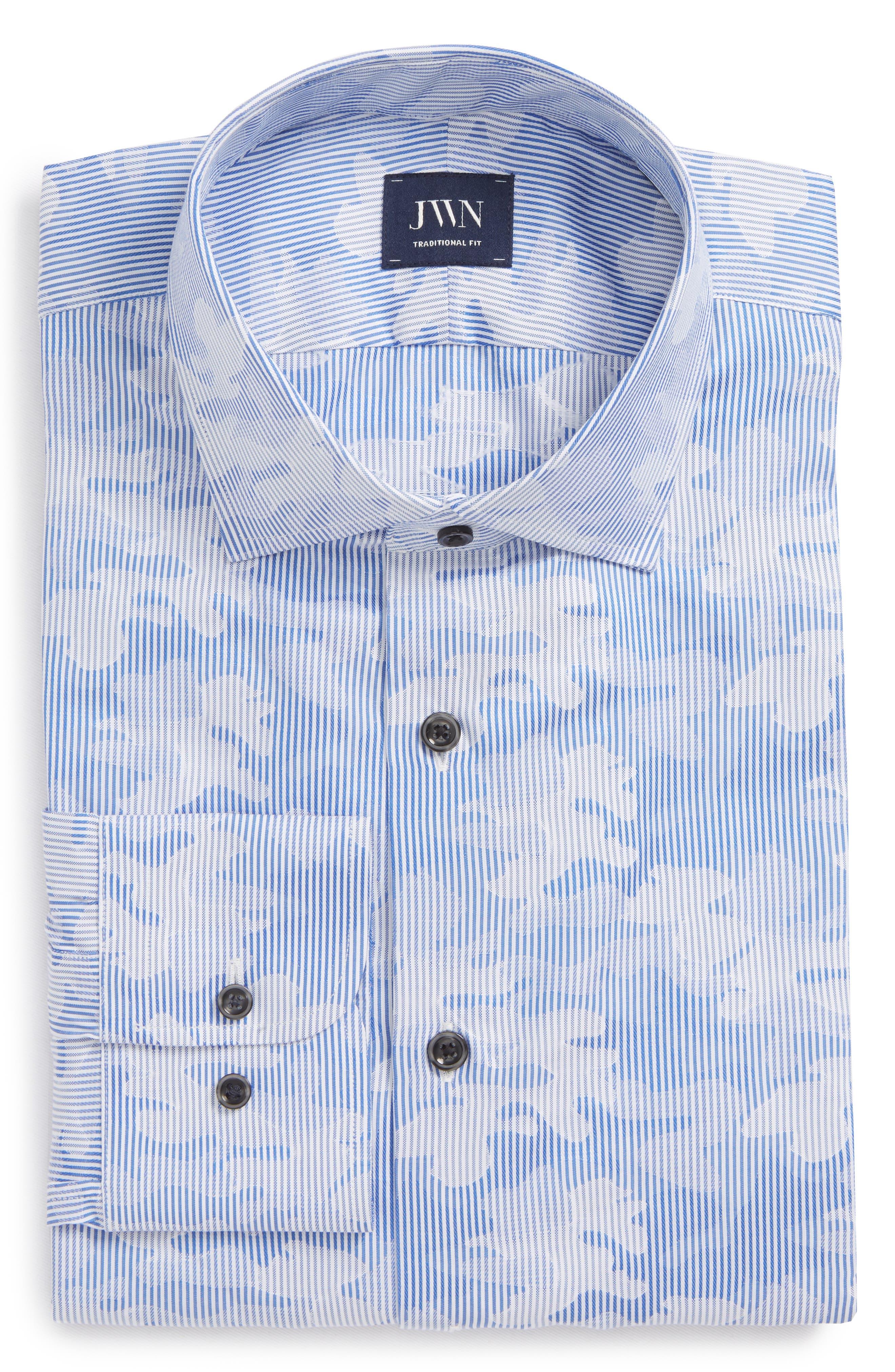 John W. Nordstrom® Traditional Fit Camo Dress Shirt