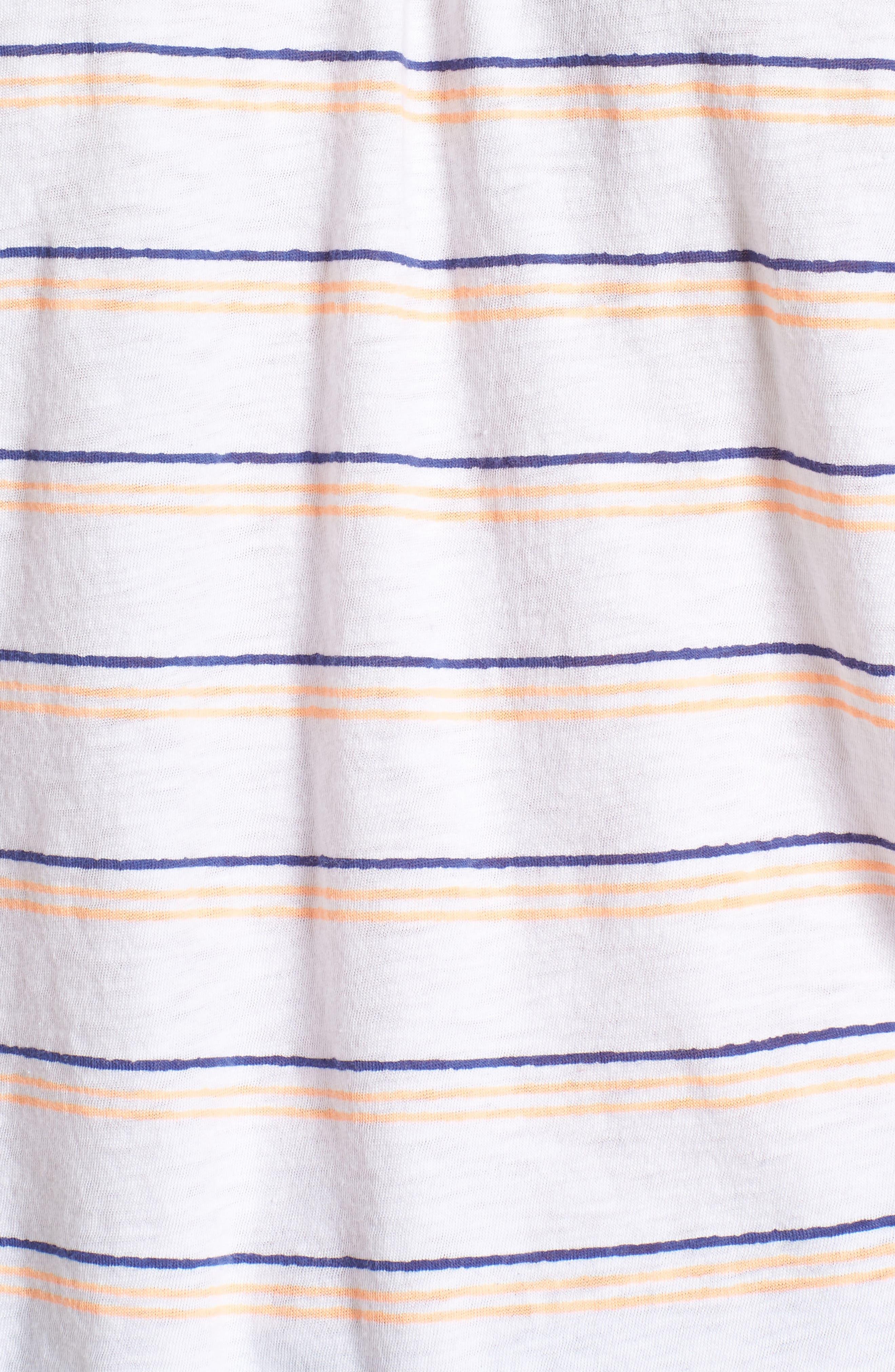 Stripe Off the Shoulder Tee,                             Alternate thumbnail 6, color,                             White