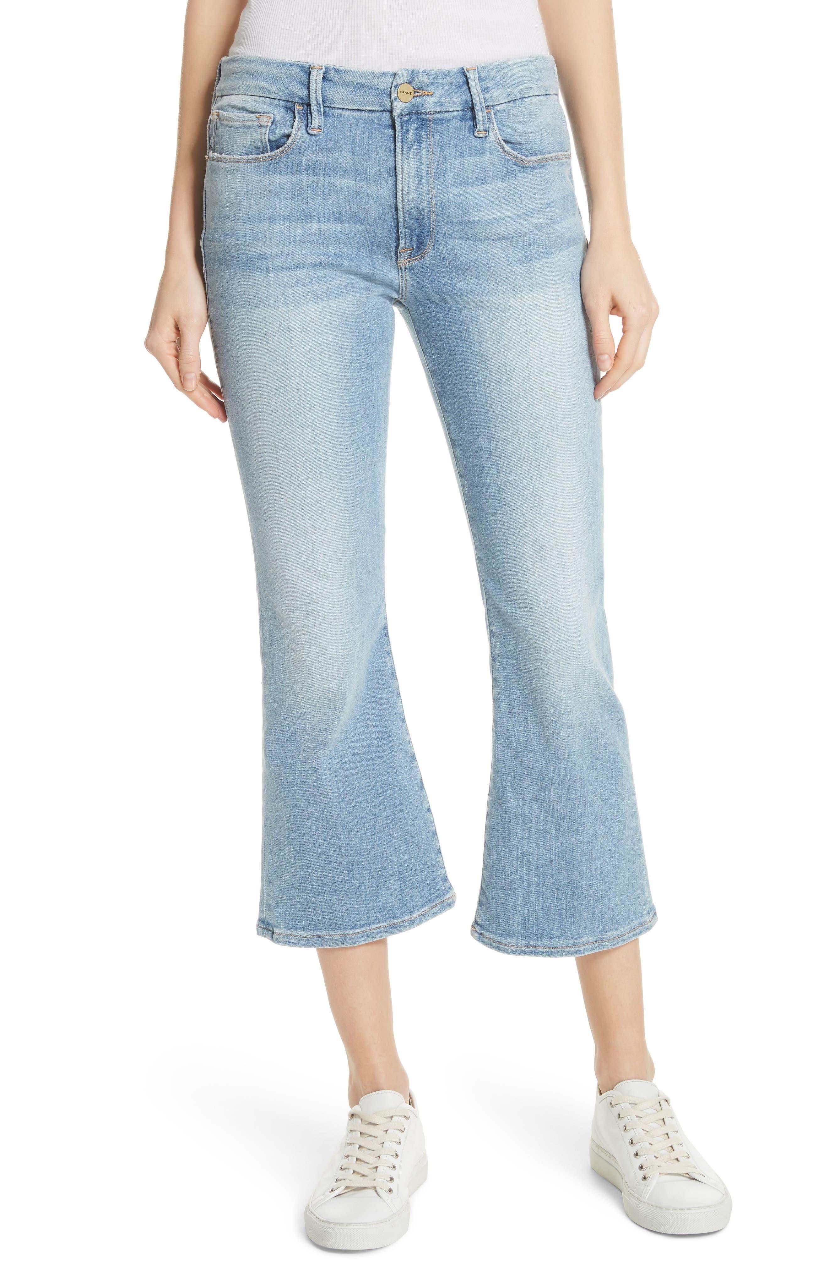 FRAME Le Crop Mini Boot Jeans (Tremont)