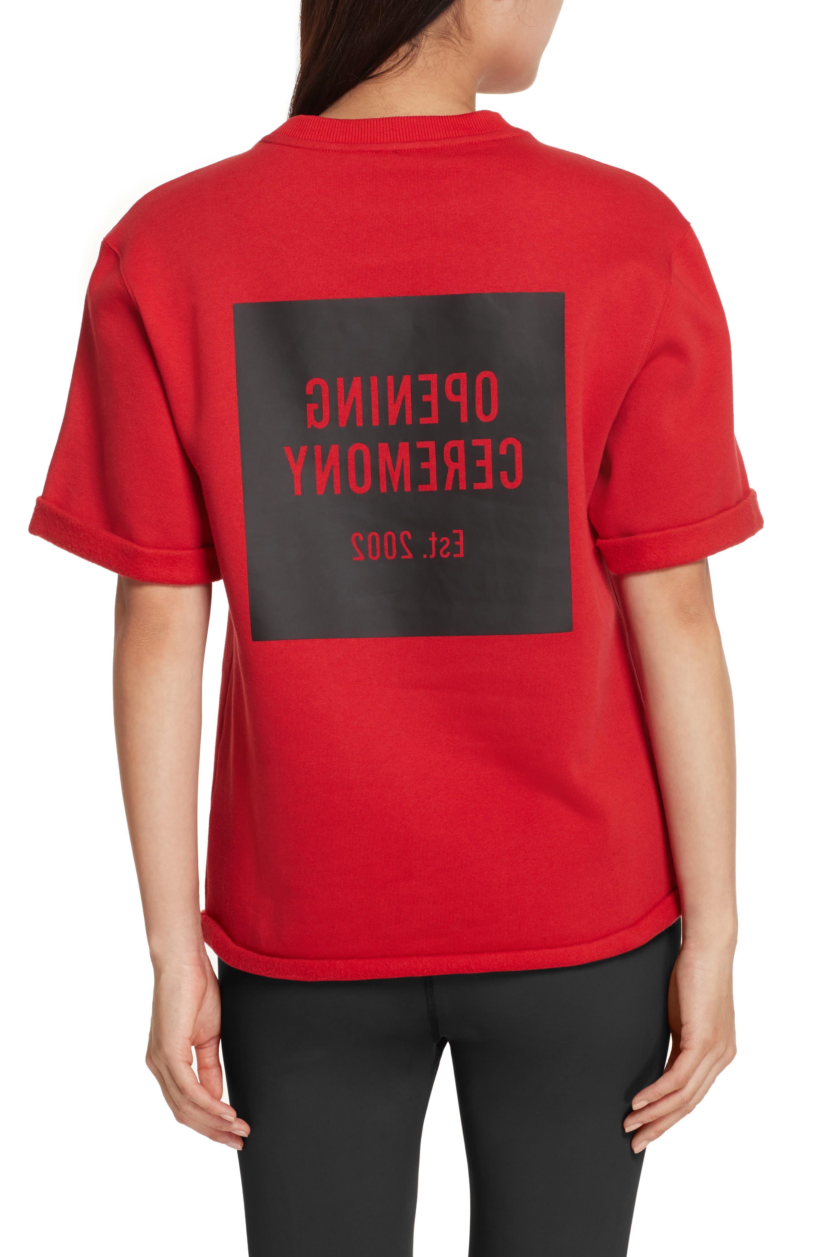 Logo Sweatshirt Tee,                             Alternate thumbnail 2, color,                             Torch Red