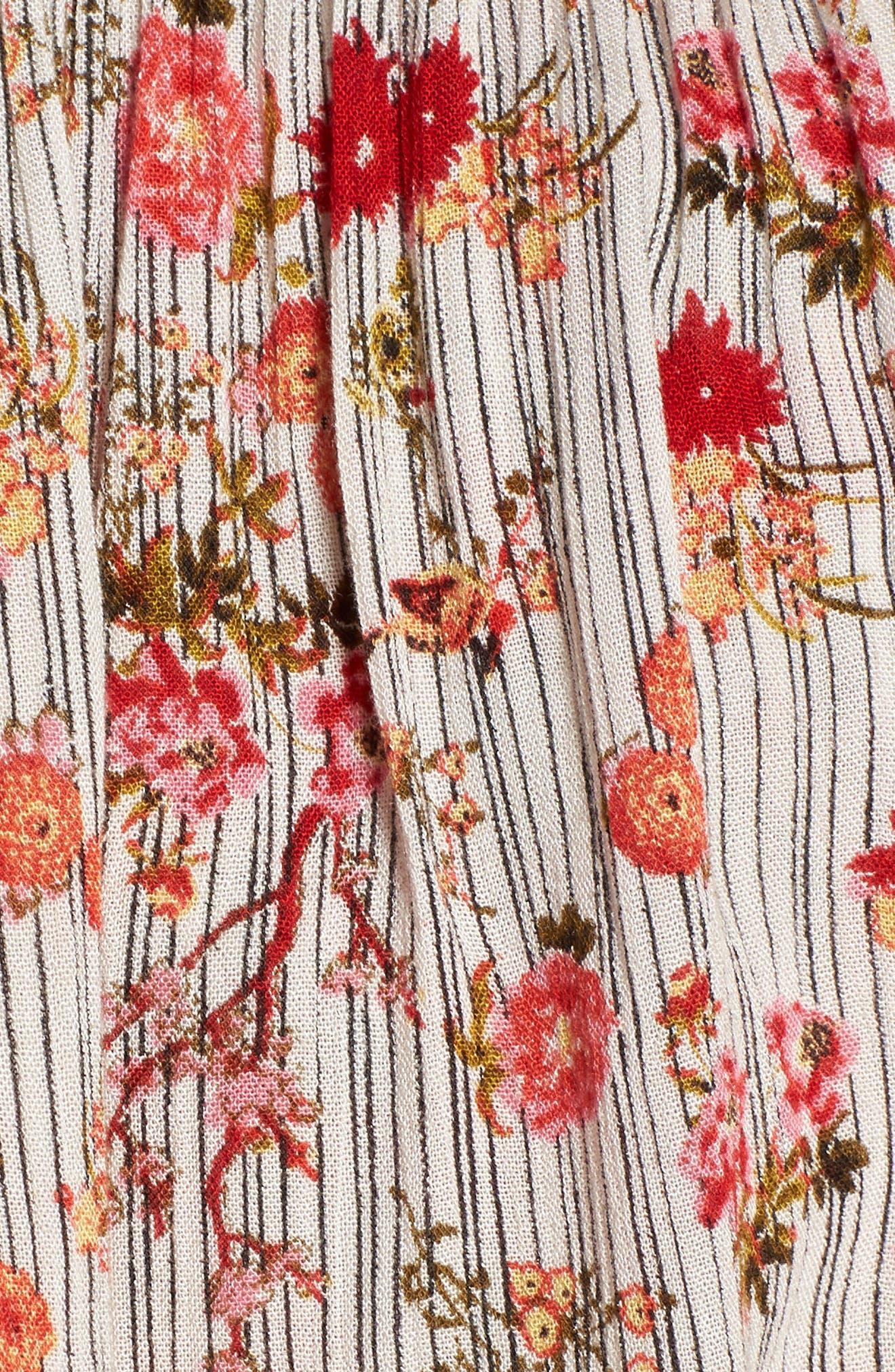 Primrose Floral Print Crop Top,                             Alternate thumbnail 6, color,                             Multi