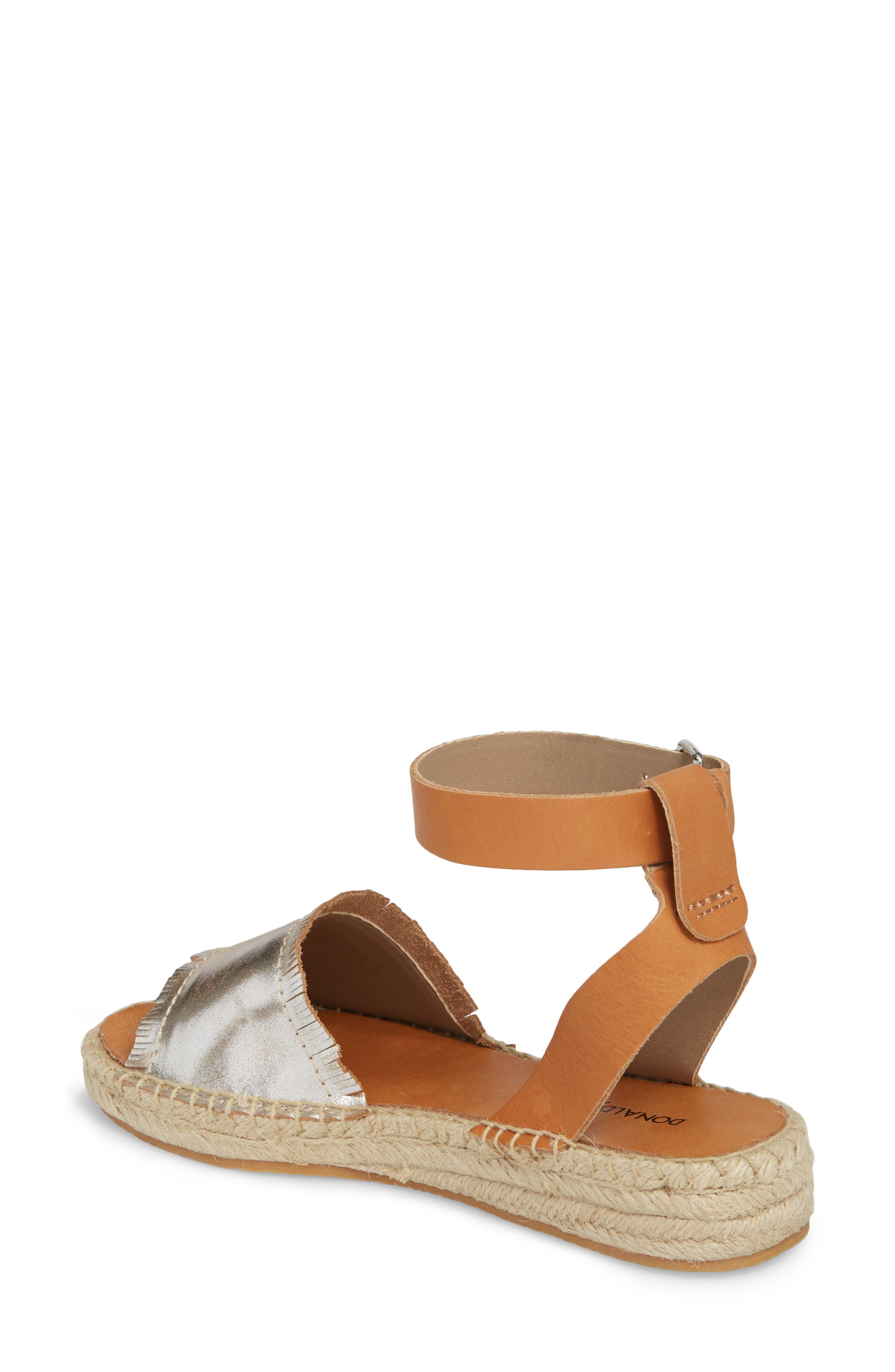 Rowen Espadrille Sandal,                             Alternate thumbnail 2, color,                             Silver Leather