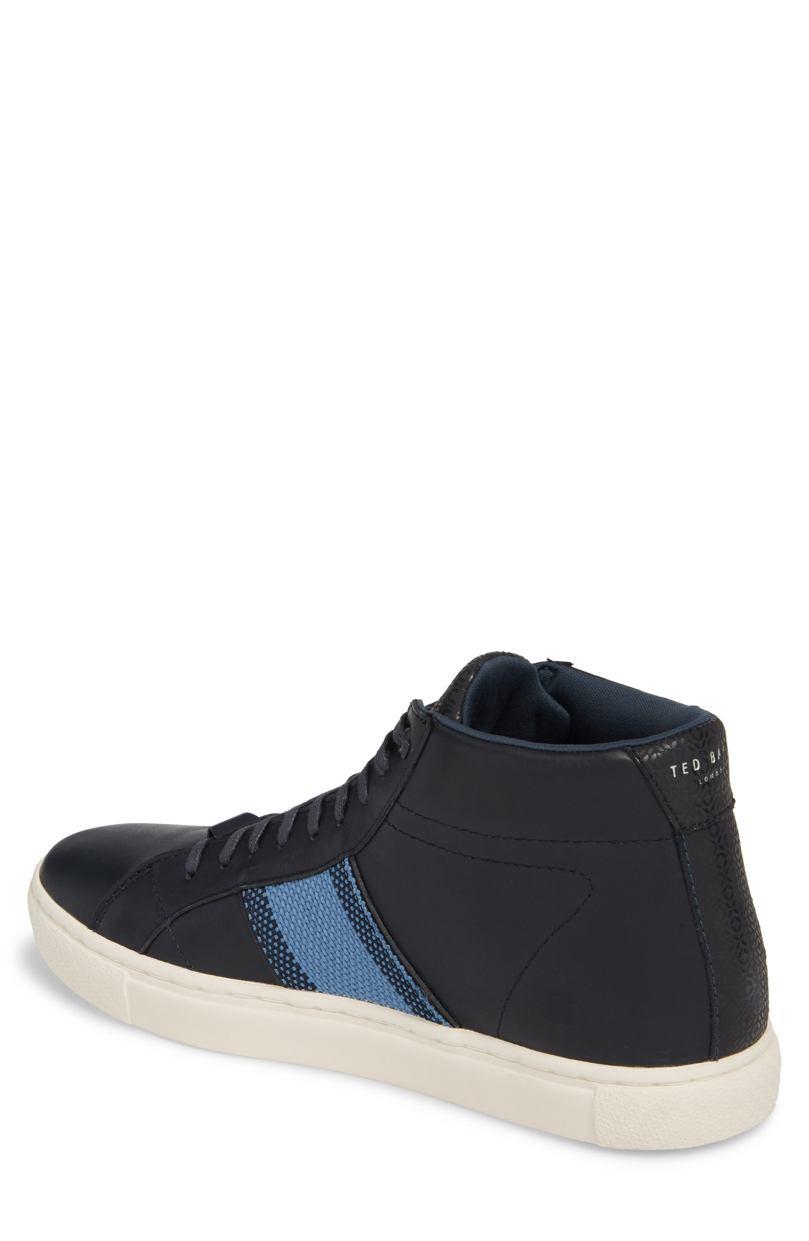 Cruuw High Top Sneaker,                             Alternate thumbnail 2, color,                             Dark Blue Leather