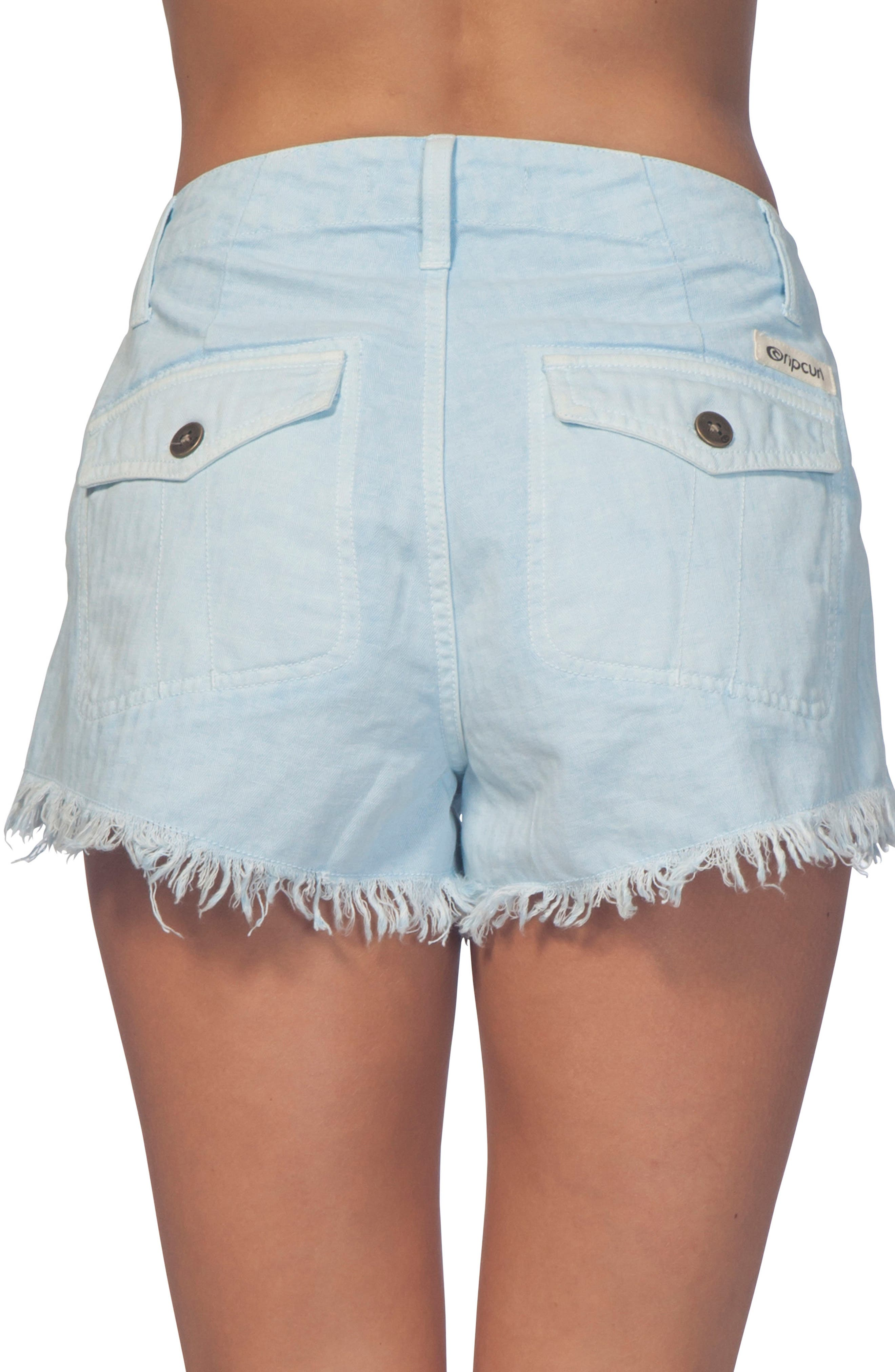 Vista Cutoff Denim Shorts,                             Alternate thumbnail 2, color,                             Light Blue