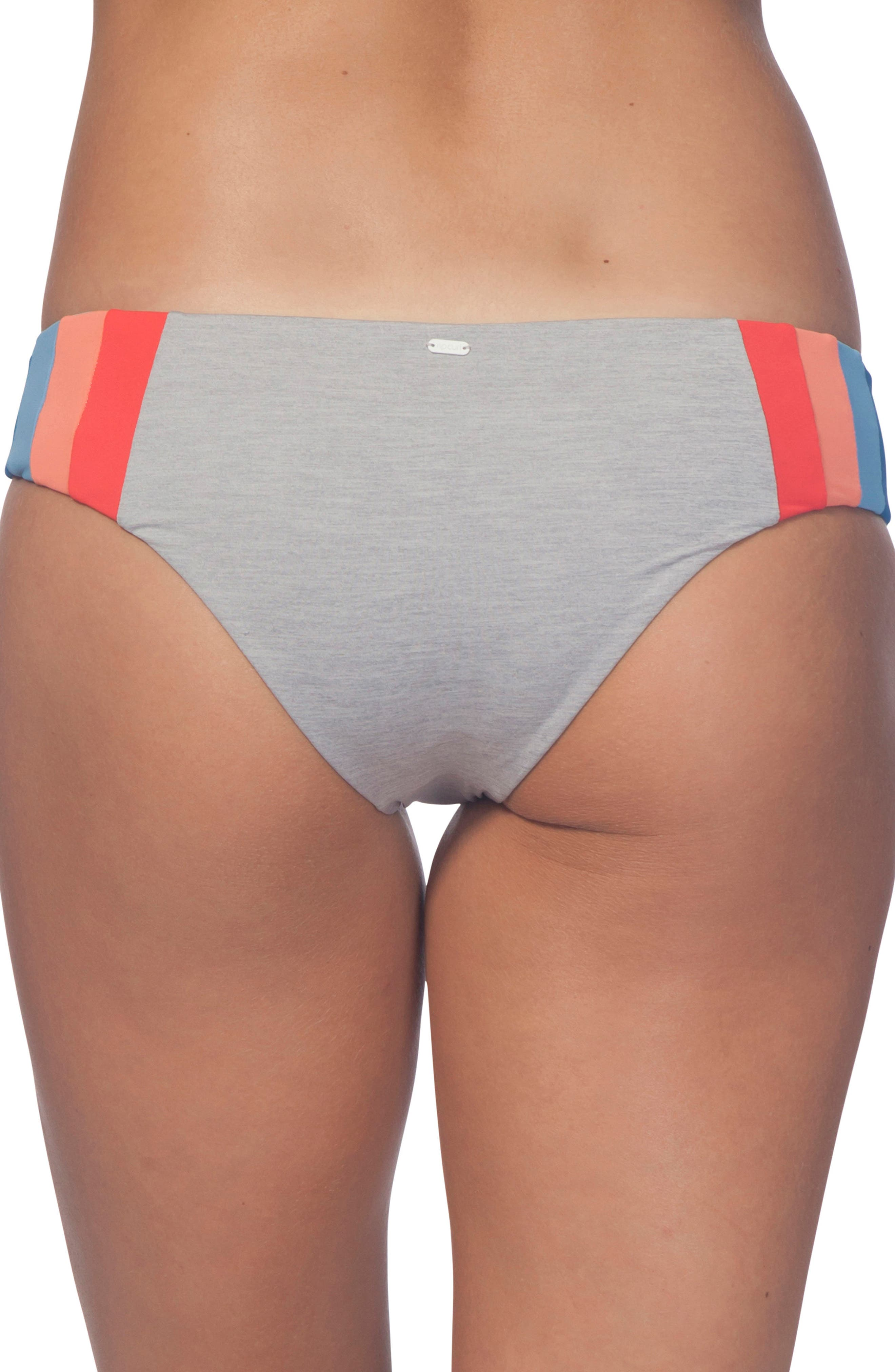 New Wave Hipster Bikini Bottoms,                             Alternate thumbnail 2, color,                             Heather Grey
